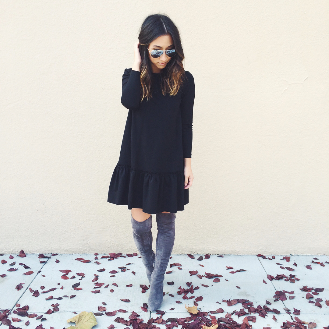 Cole Haan Gray OVer the Knee Boots