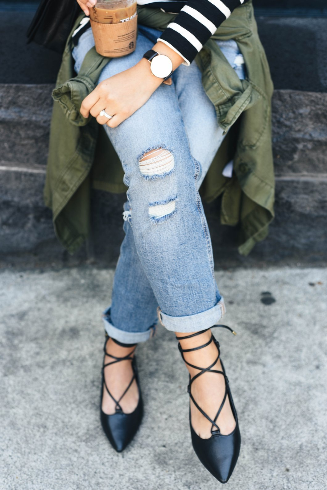 Boyfriend Mid-Rise Straight Ankle Jeans for Women