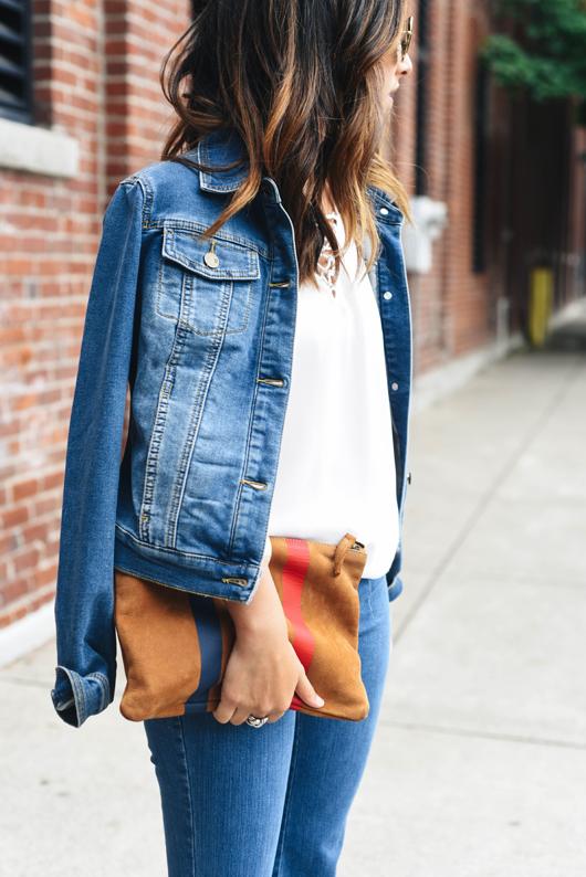 New York & Company Jennifer Hudson Soho Collection denim jacket