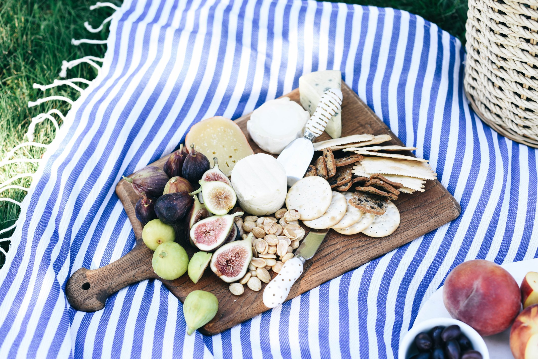 Picnic cheese board