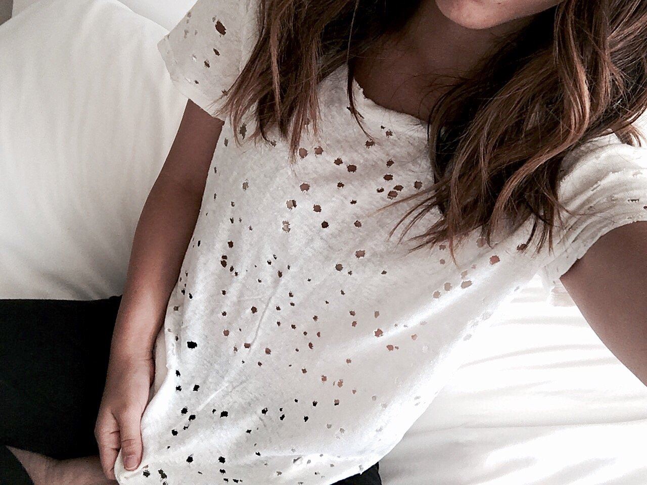 Michael Stars distressed tee