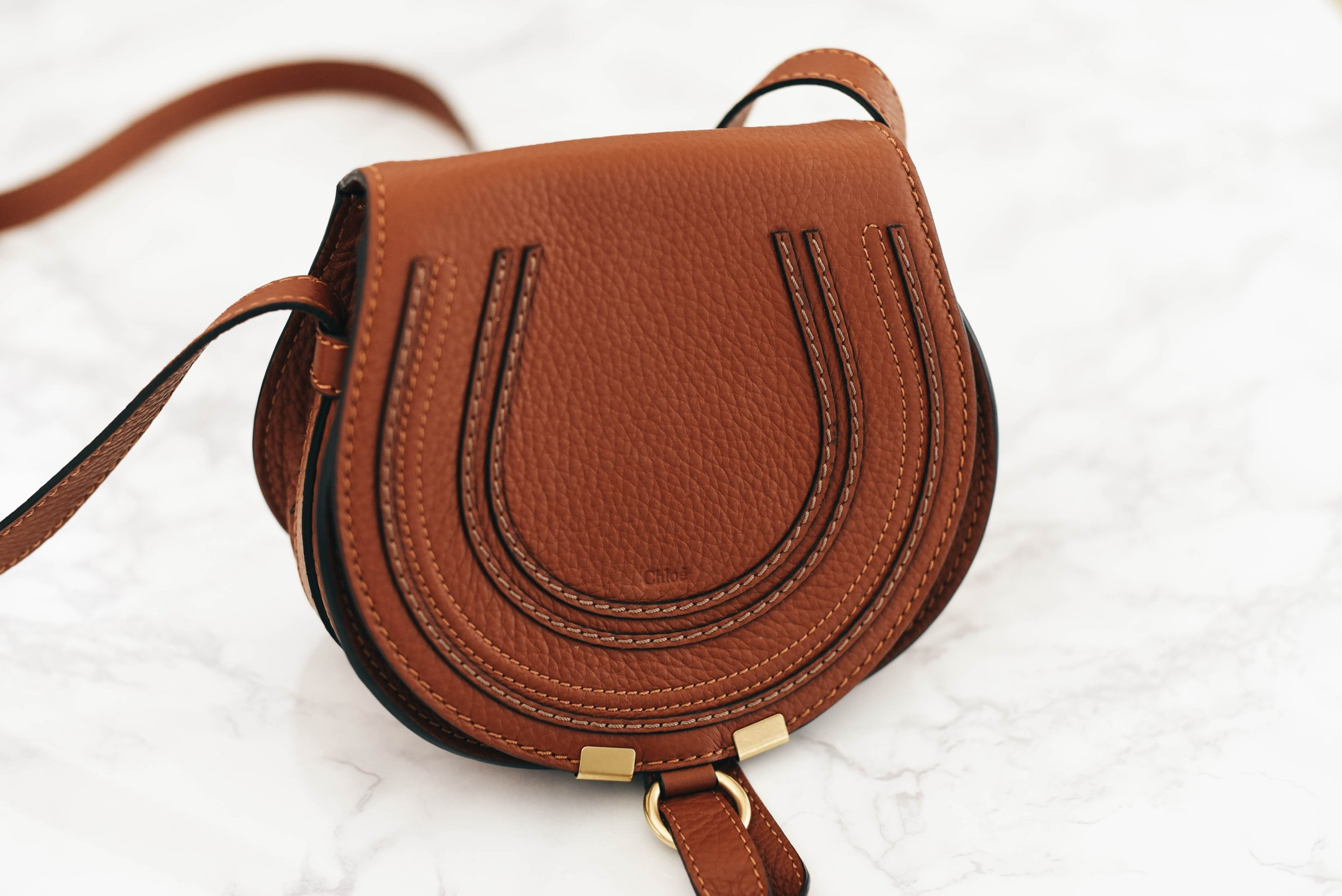 5a8de72d46 What's in my Bag + Chloé 'Small Marcie' Leather Crossbody Bag Review -  Crystalin Marie
