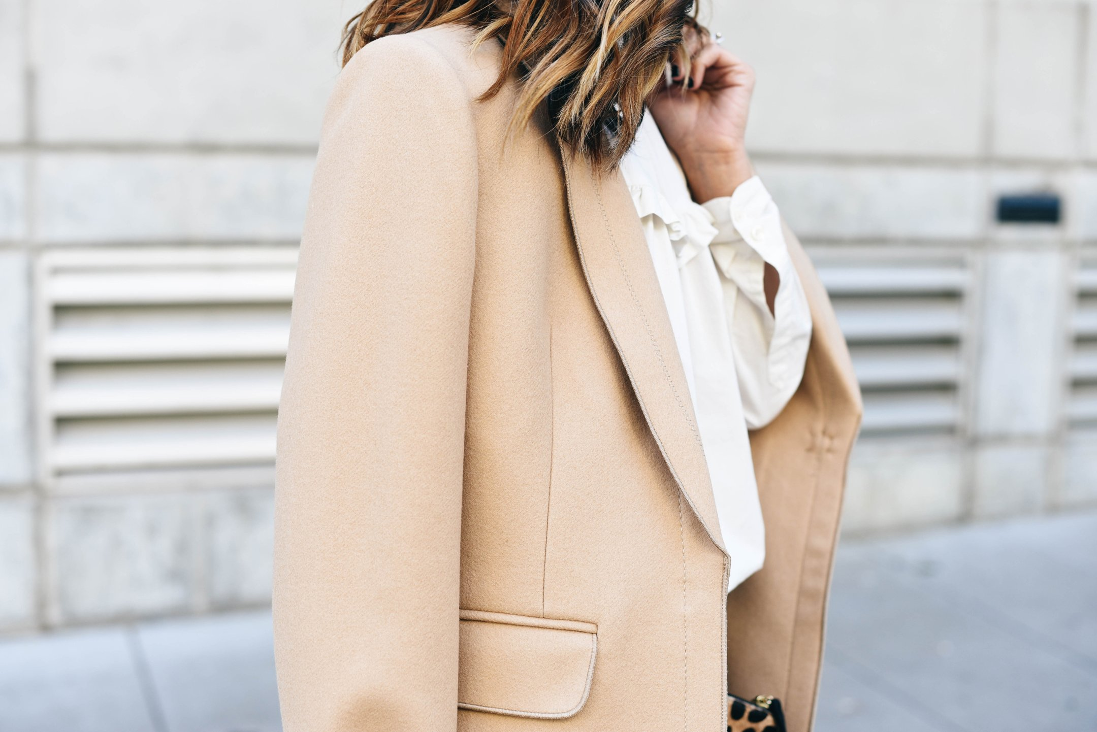 crystalin-marie-wearing-banana-republic-petite-melton-wool-buttoned-top-coat