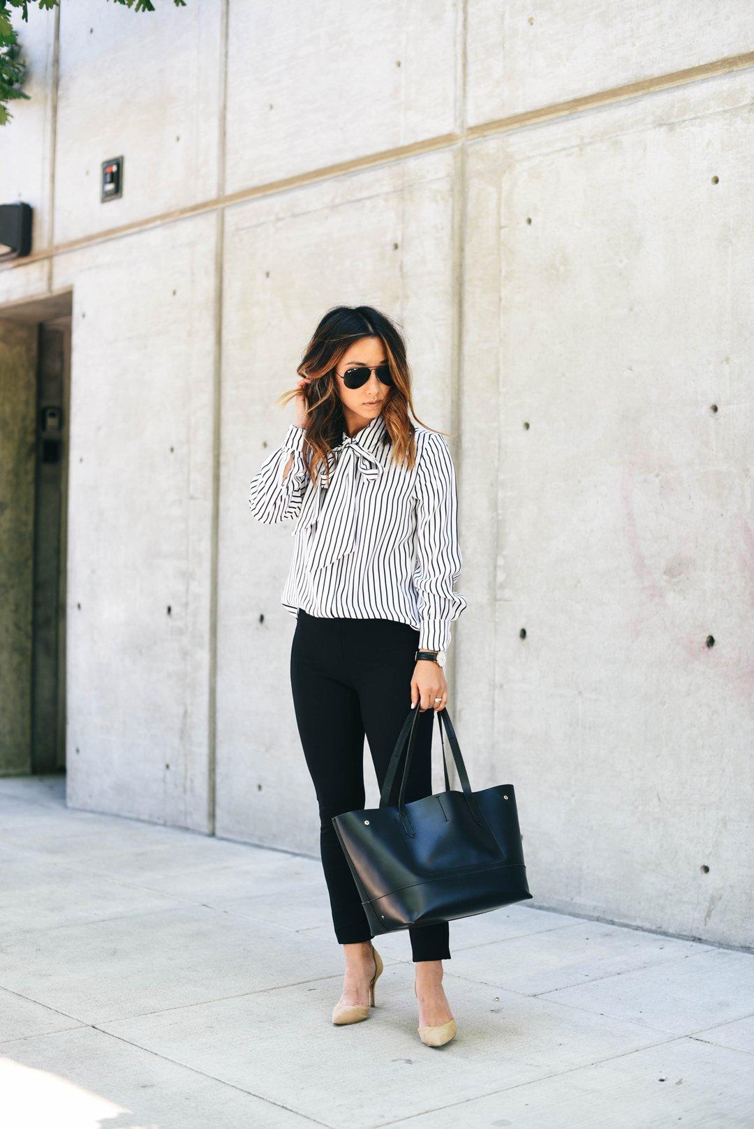 frame-tie-neck-stripe-silk-blouse