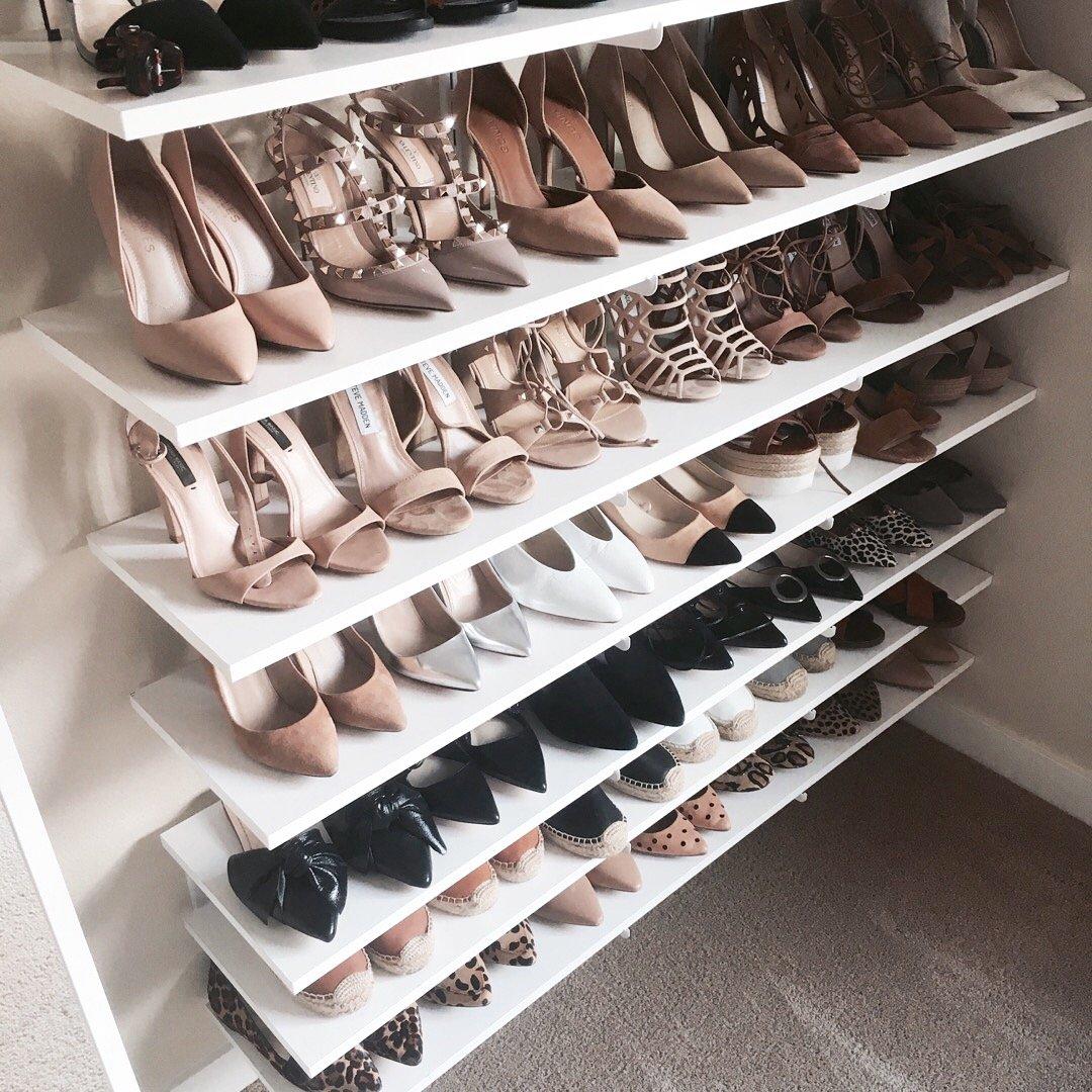 Crystalin Marie shoe closet