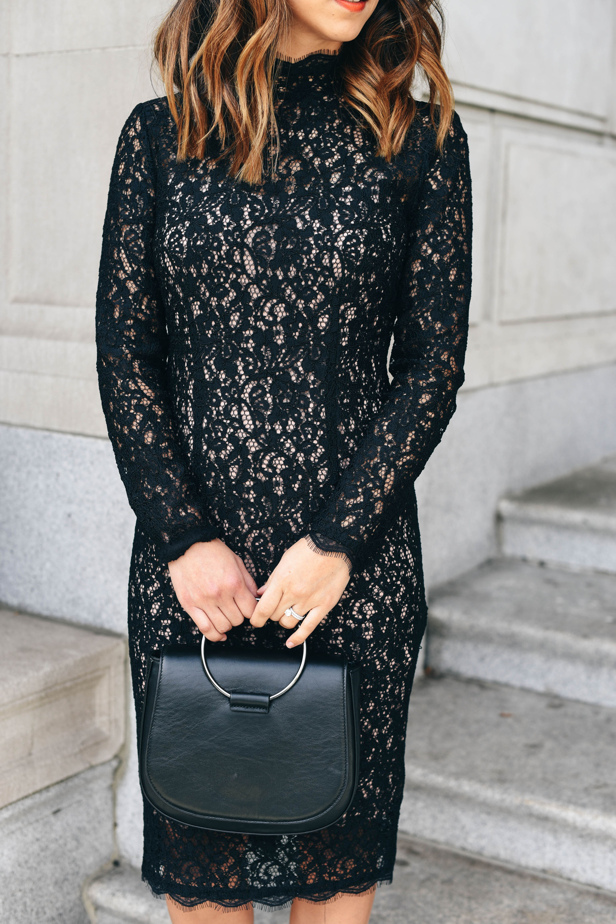 crystalin-marie-wearing-adrianna-papell-sheath-lace-dress