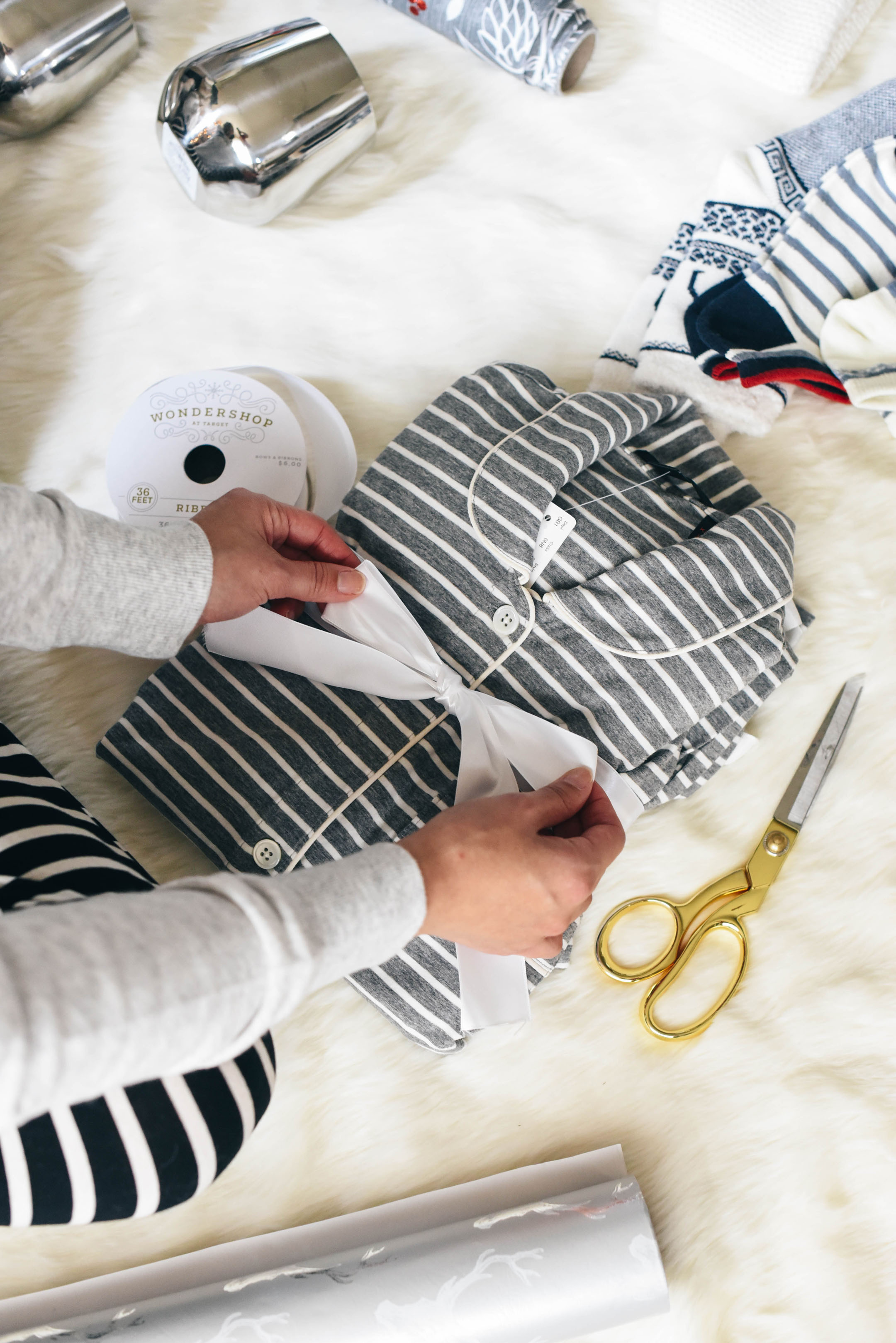 j-crew-gray-striped-pajamas
