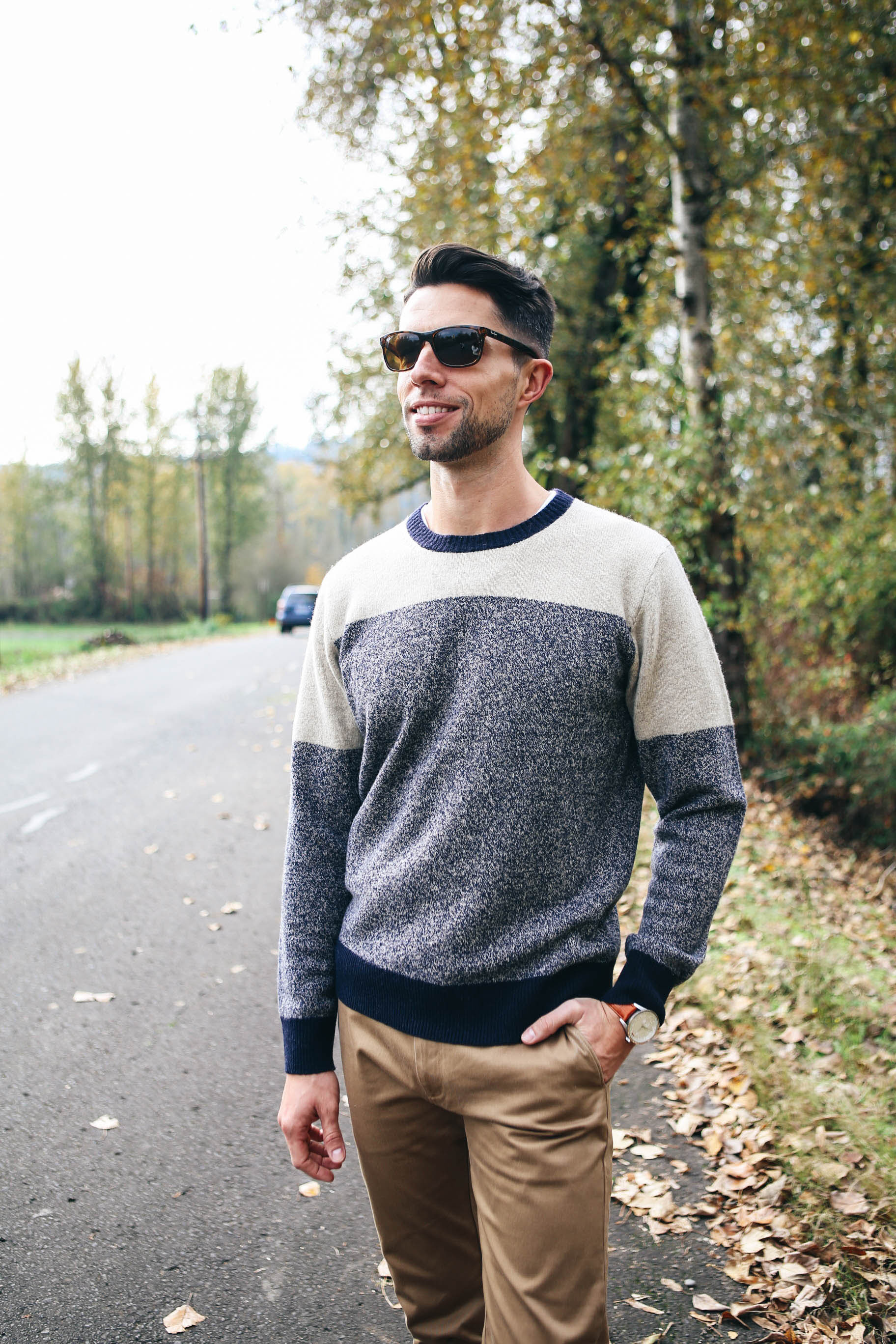 mike-wearing-j-crew-lambswool-sweater-in-varsity-colorblock