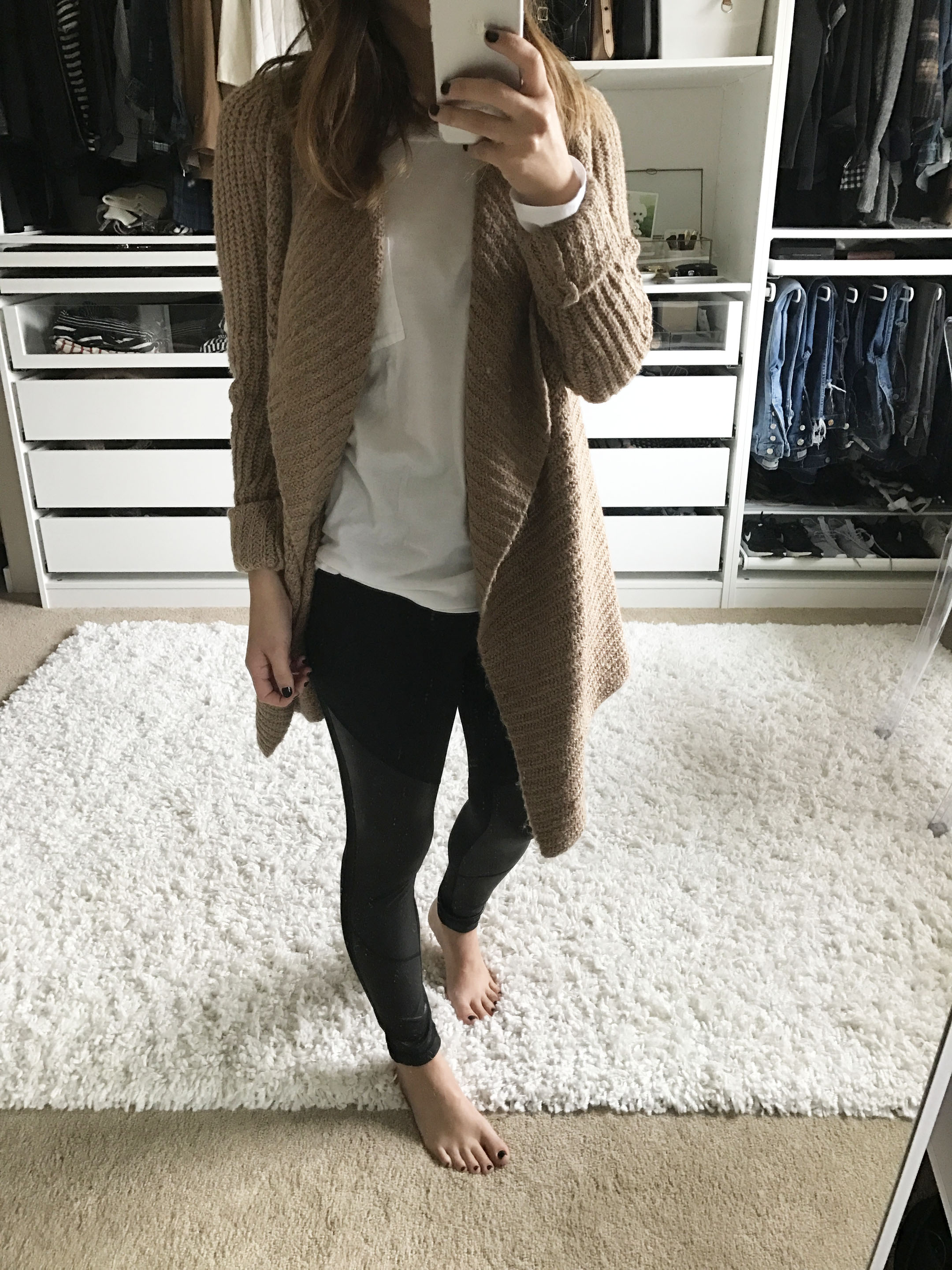 Abercrombie & Fitch camel cardigan