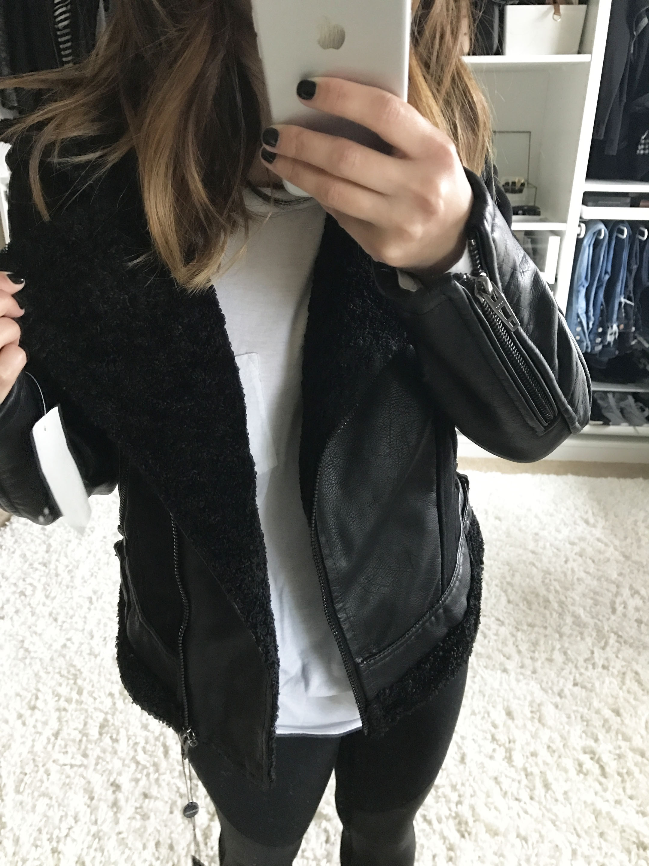 Leather jacket xs - Blank Nyc Faux Leather Jacket Xs Blank Nyc Shearling Moto Jacket Xs On Sale