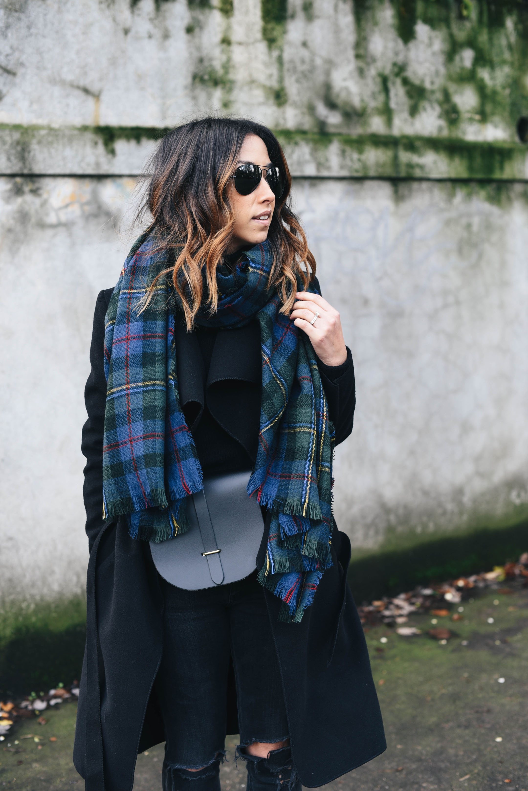 sole-society-blue-and-green-plaid-scarf