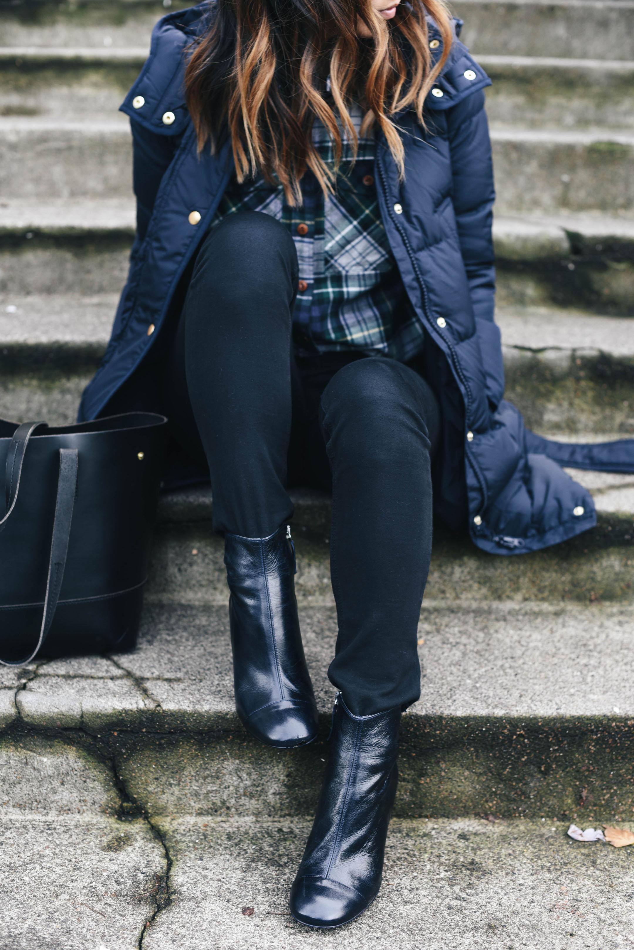 zara-navy-leather-booties