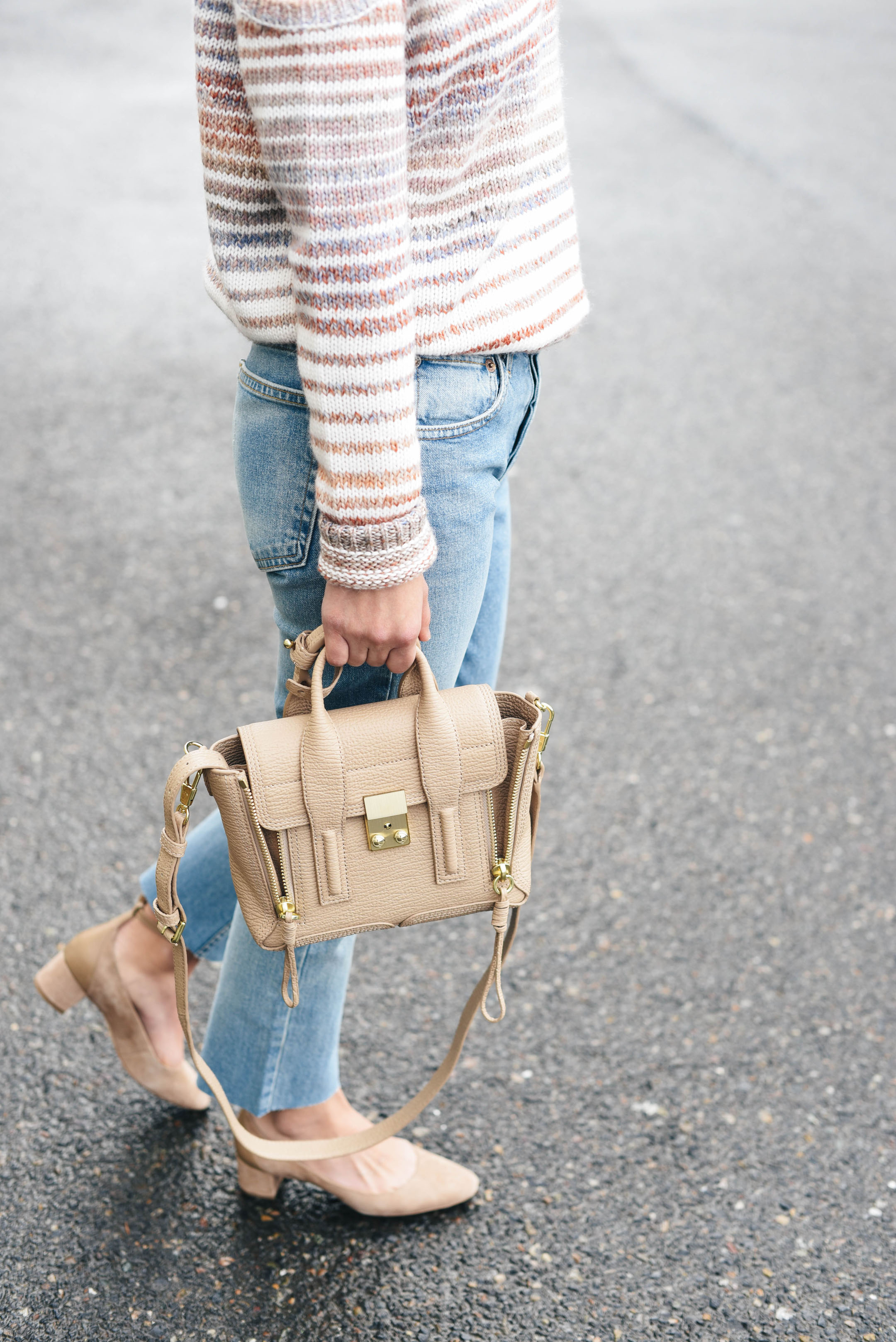 3.1 Phillip Lim Mini Pashli Leather Satchel in cashew