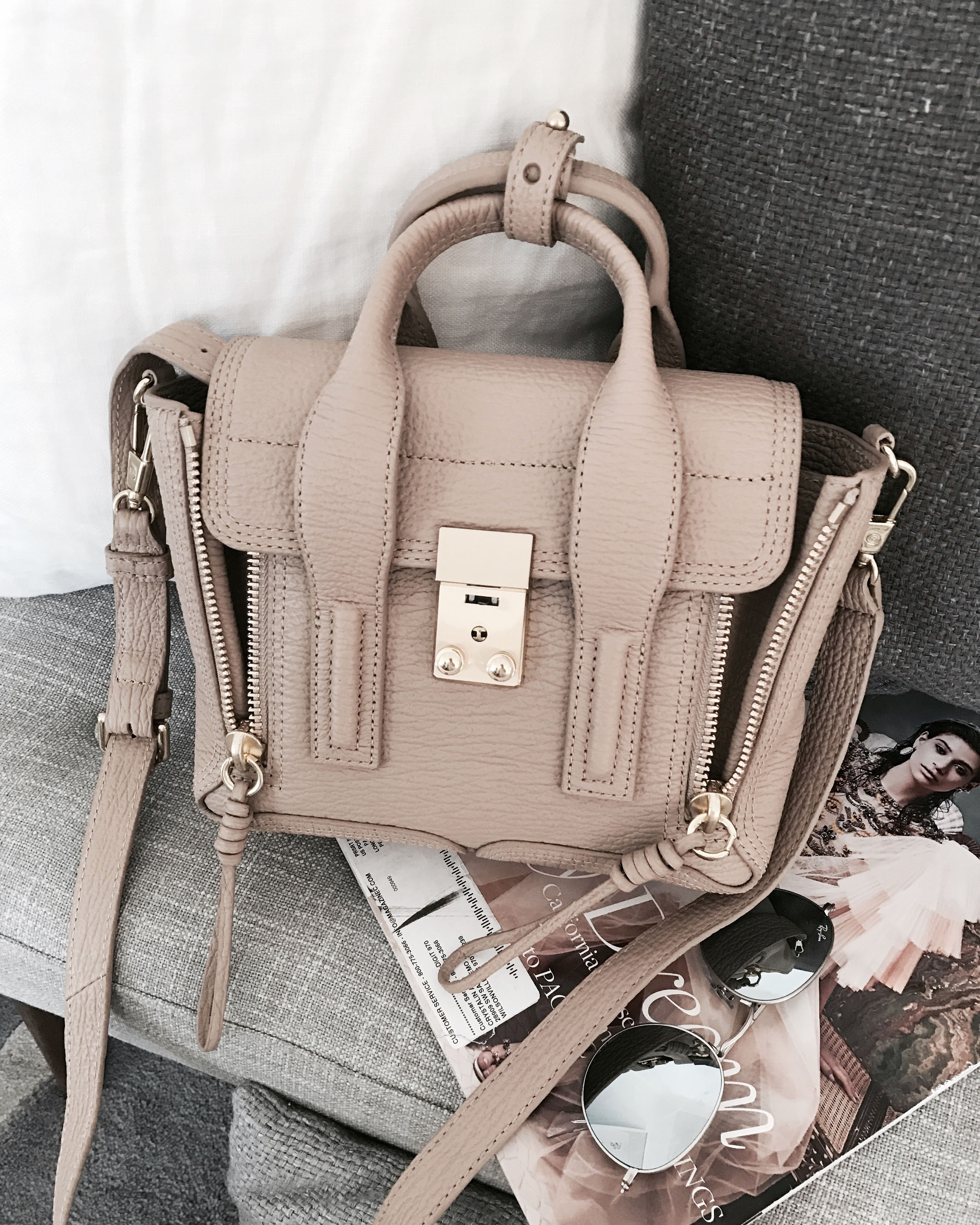 3.1 Phillip Lim mini satchel in cashew