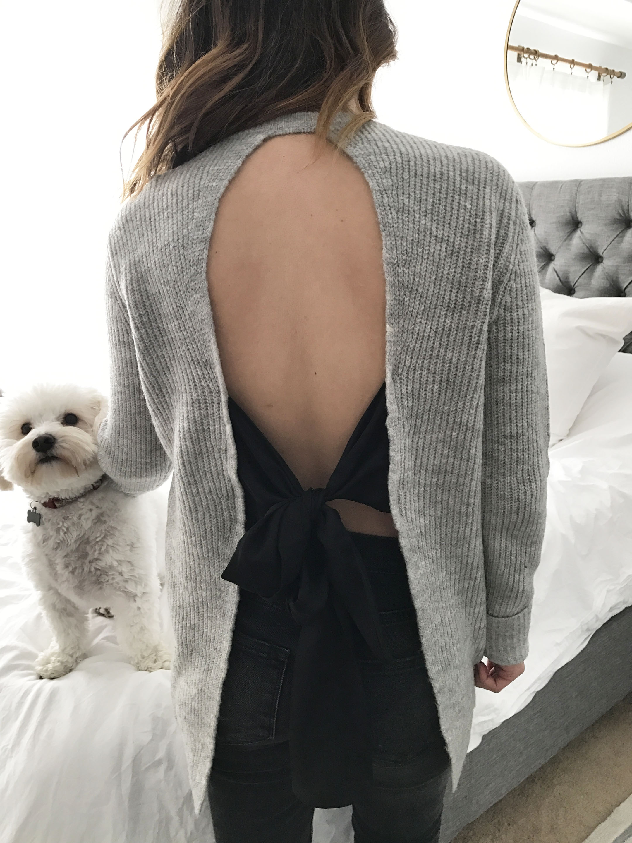 Asos tie back sweater 3