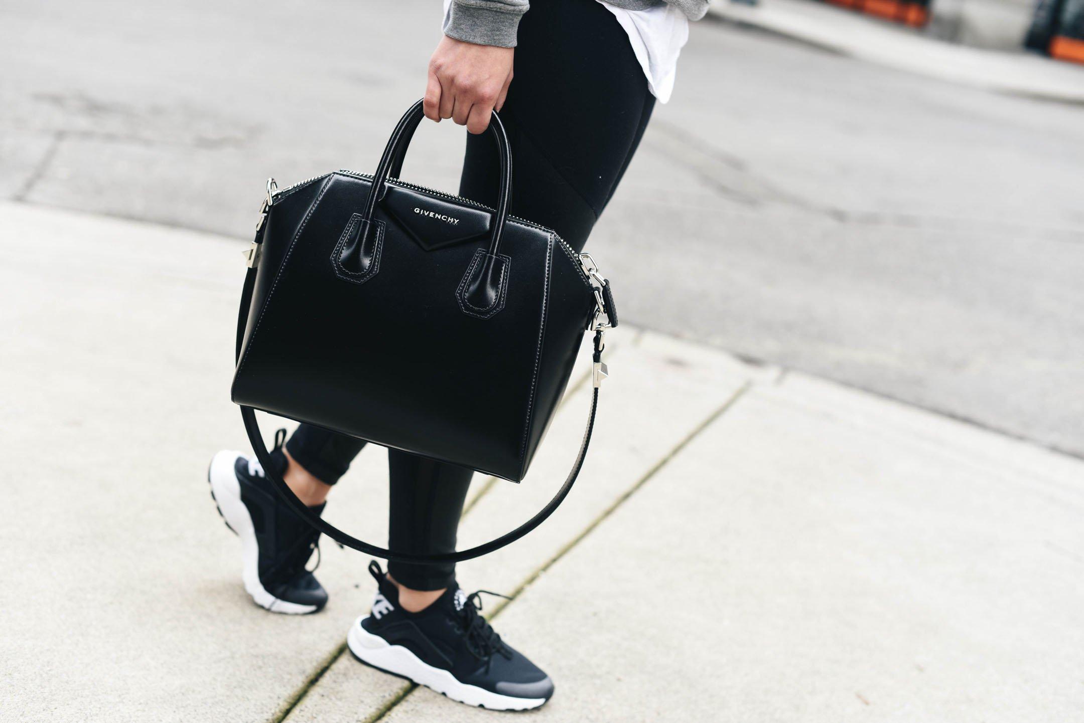 Crystalin Marie wearing Givenchy Antigona small satchel