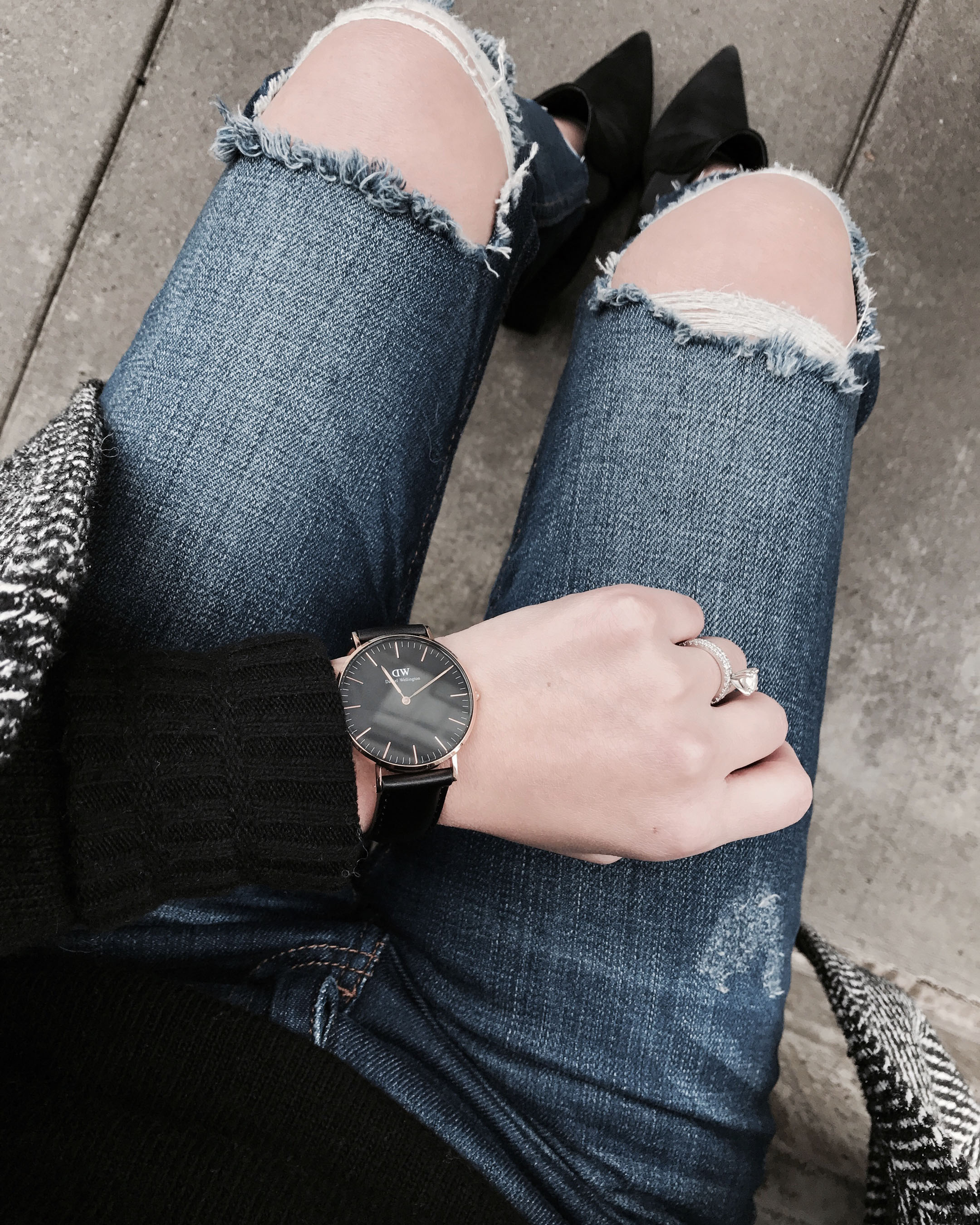 Daniel Wellington black watch