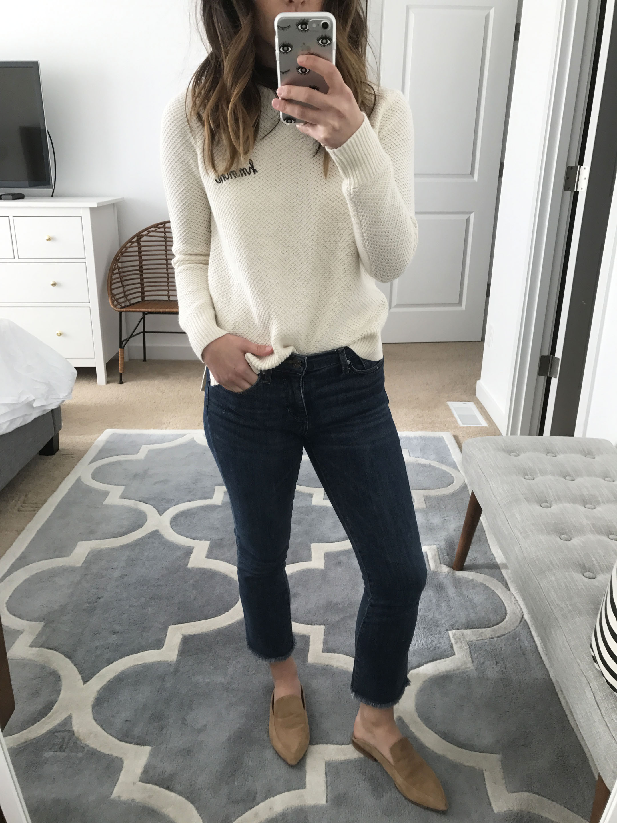 Madewell button back sweater 2
