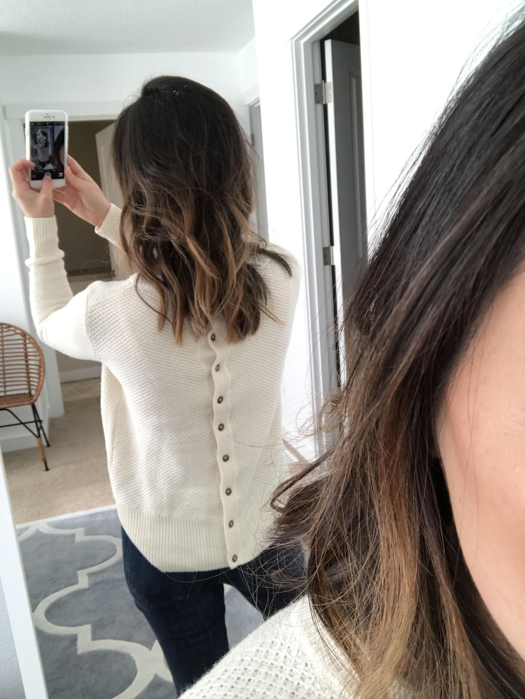Madewell button back sweater 4