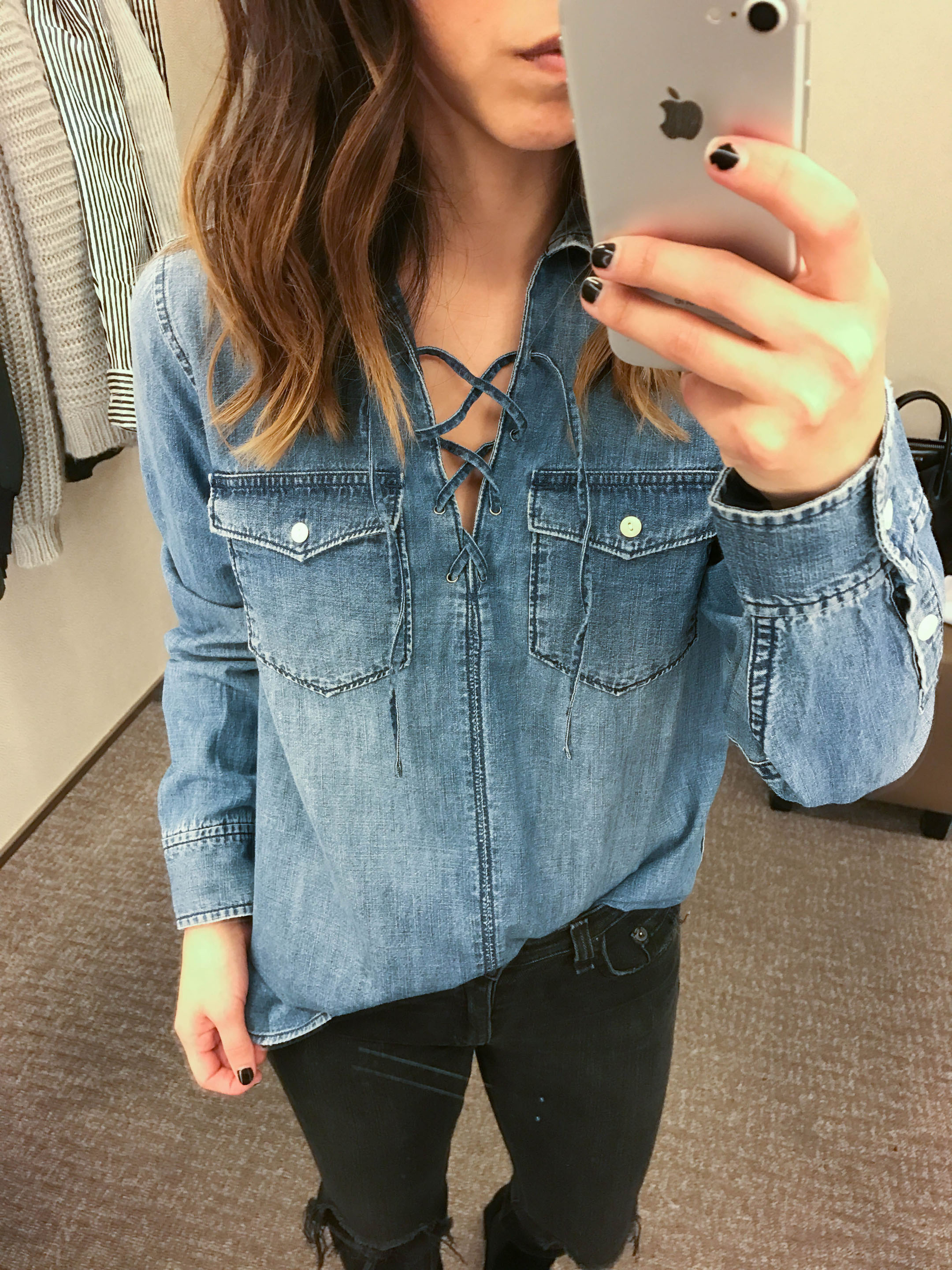 madewell-lace-up-denim-shirt