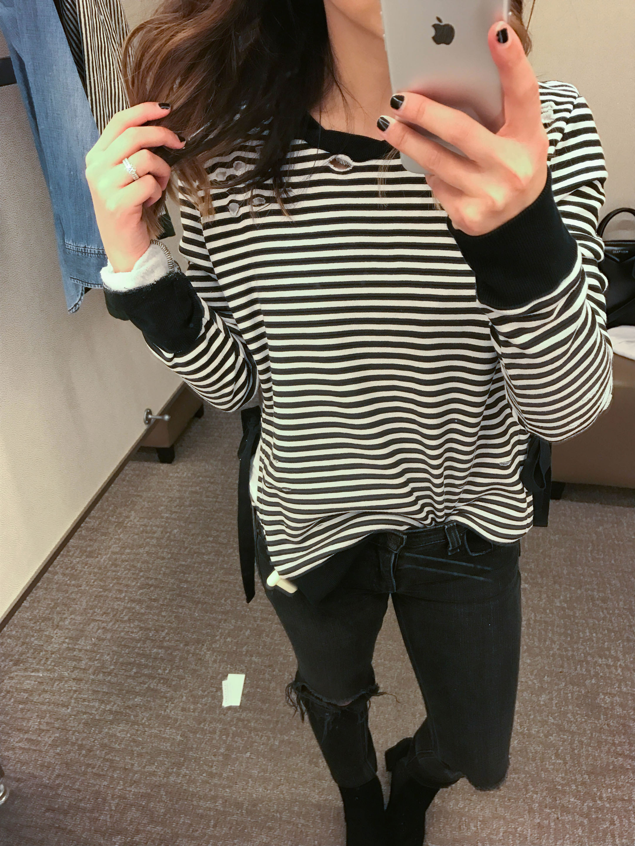 pam-gela-stripe-side-slit-sweatshirt