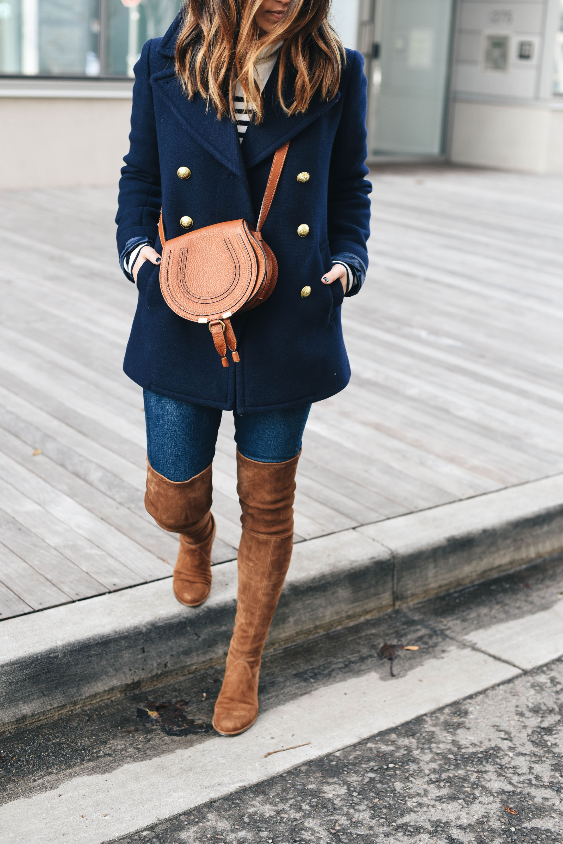 Stuart Weitzman cognac over the knee boots