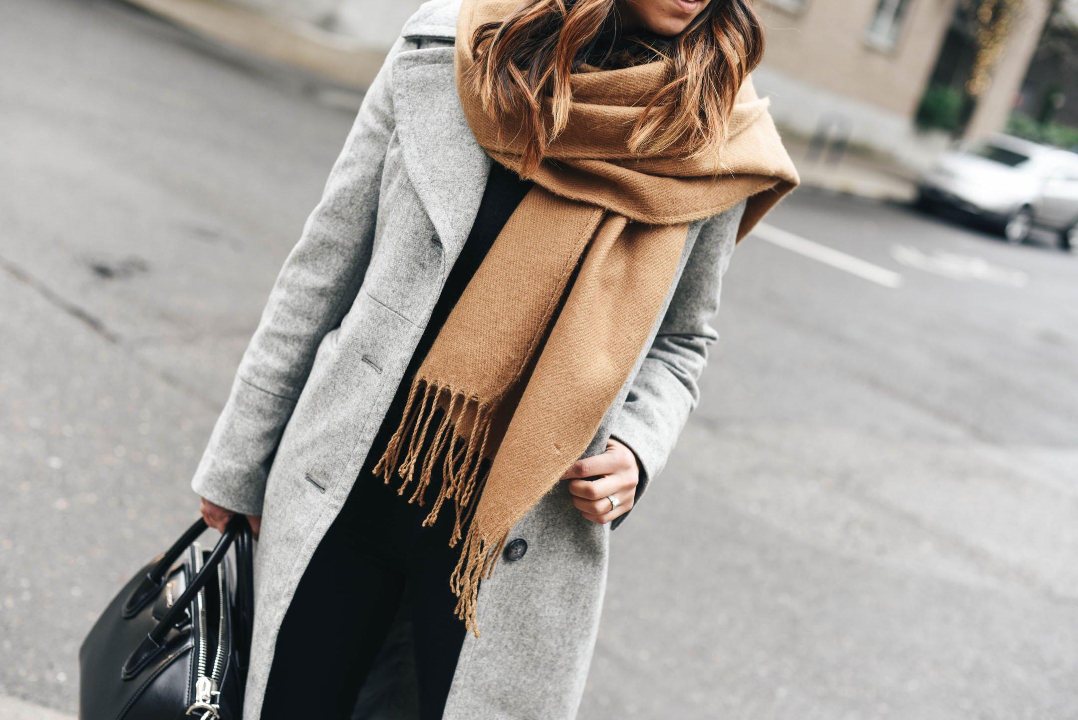 Topshop camel scarf