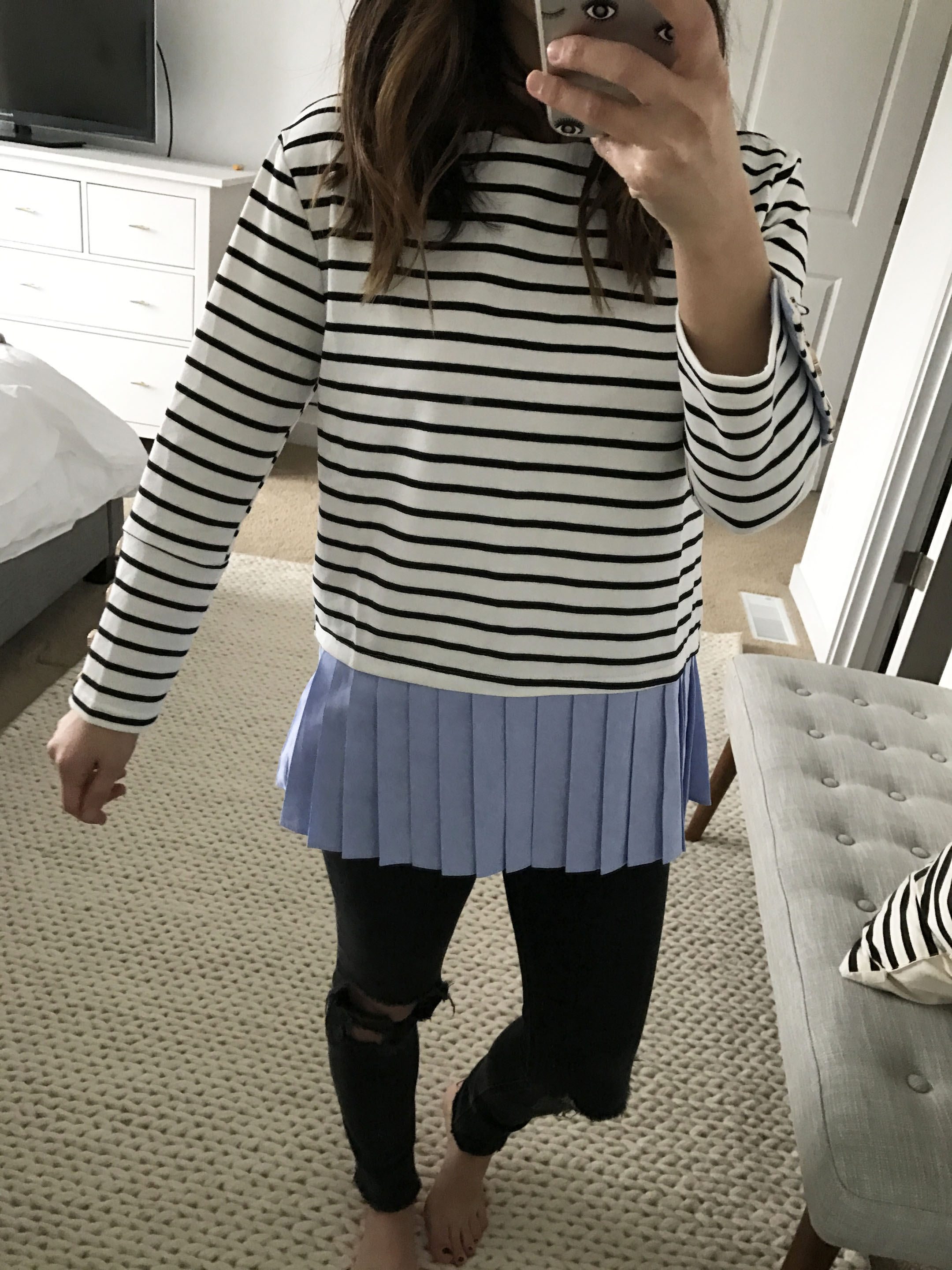 English Factory stripe top