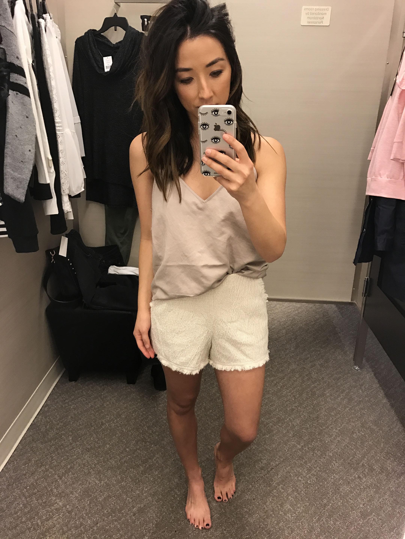 JOA fringe shorts