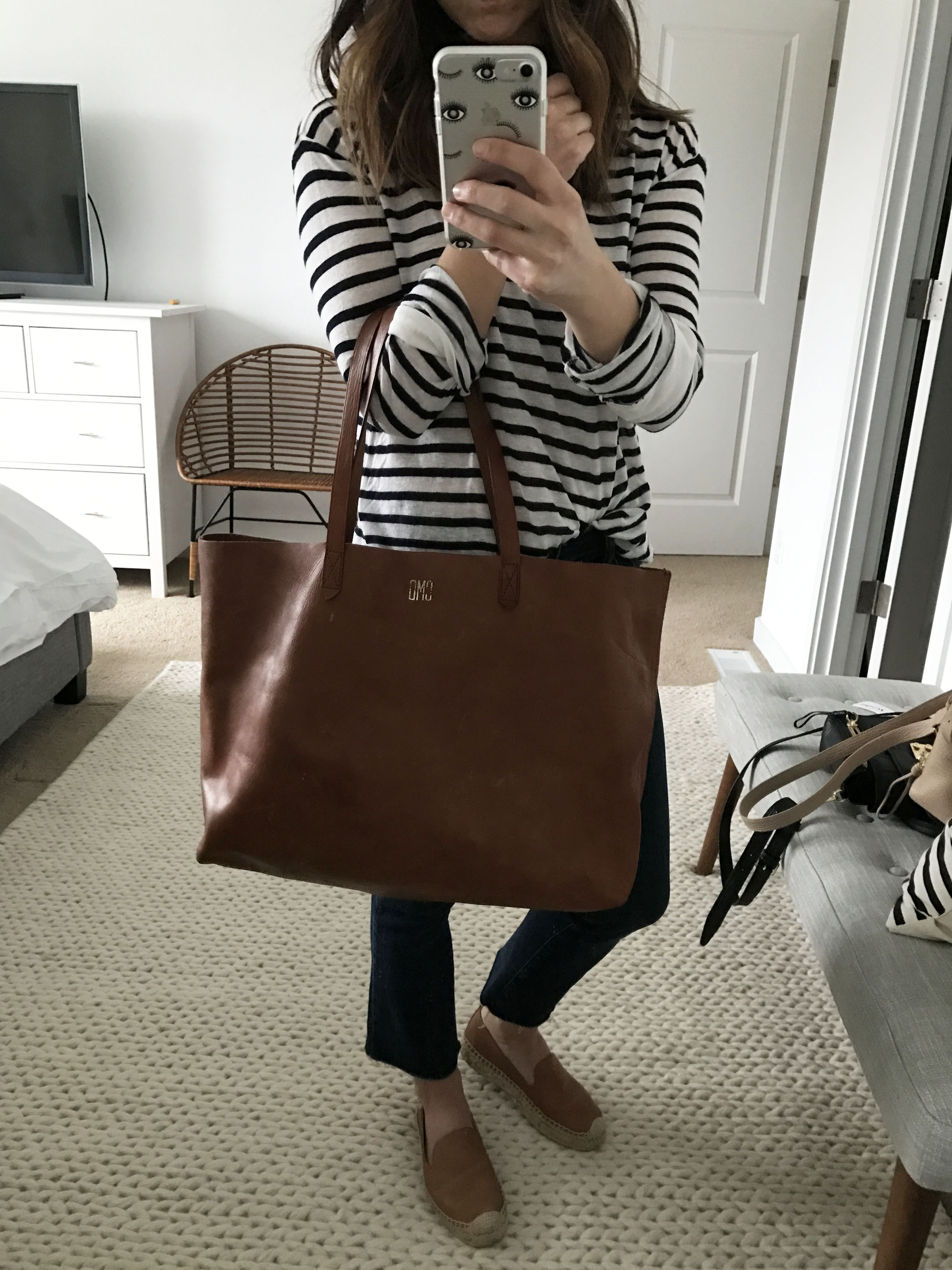 Madewell transport tote. 2