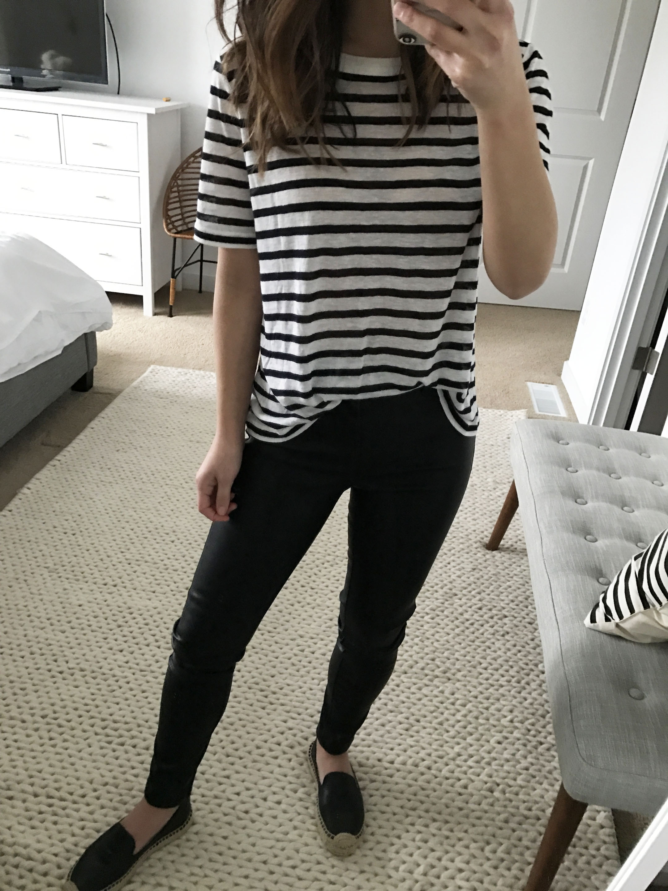 T By Alexander Wang striped tee 3