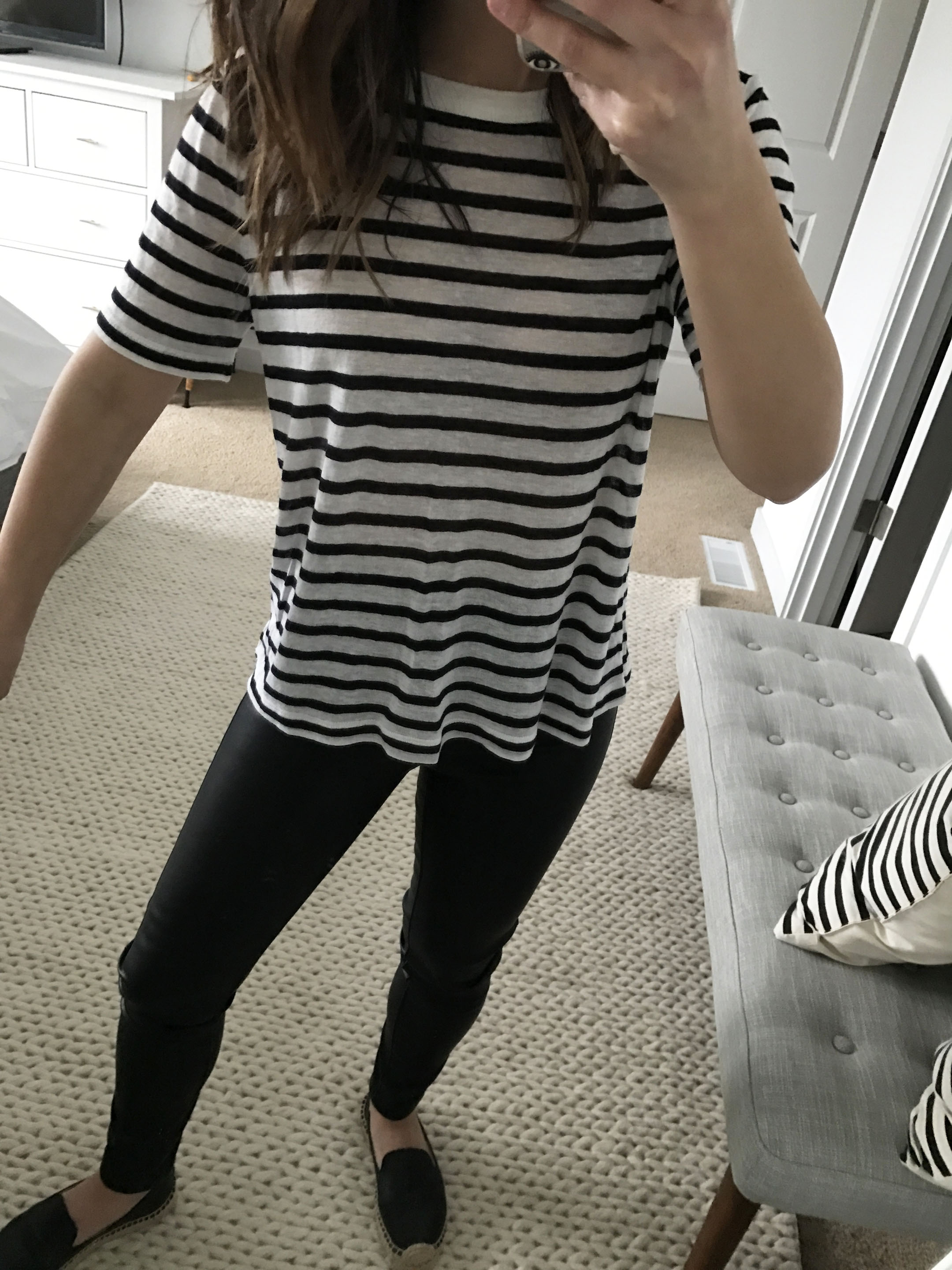 T By Alexander Wang striped tee