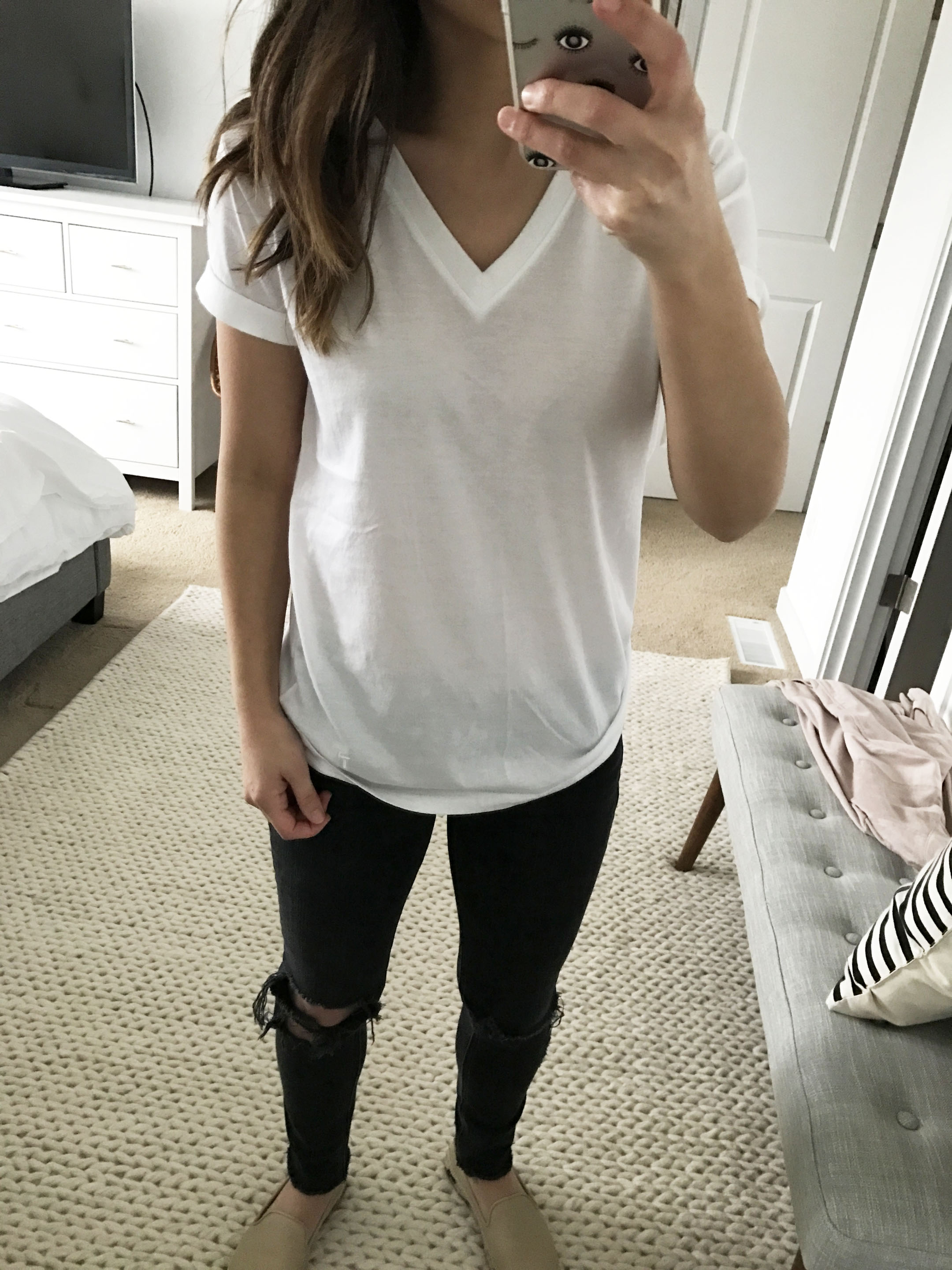 T By Alexander Wang white tee 2