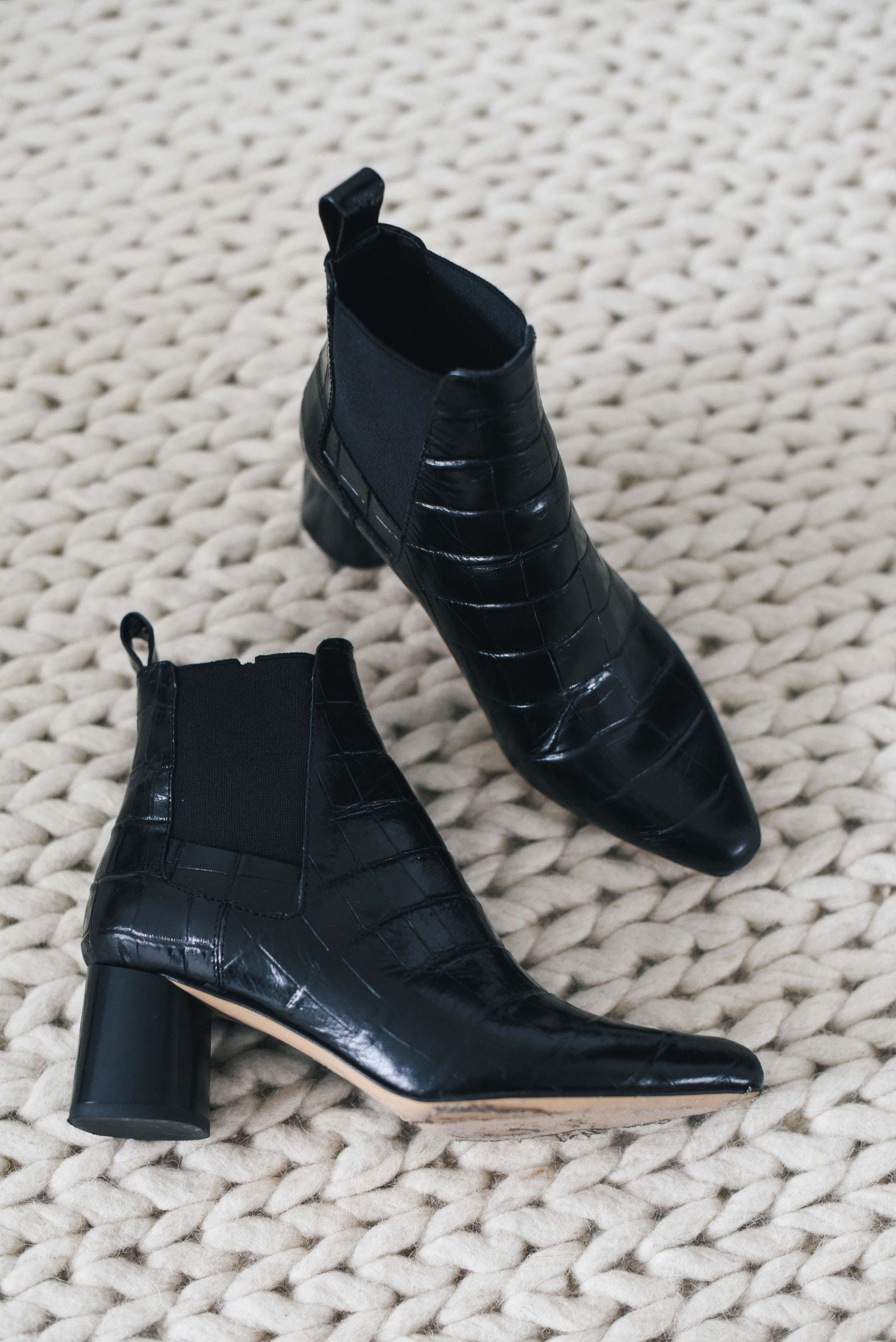 Zara embossed ankle booties