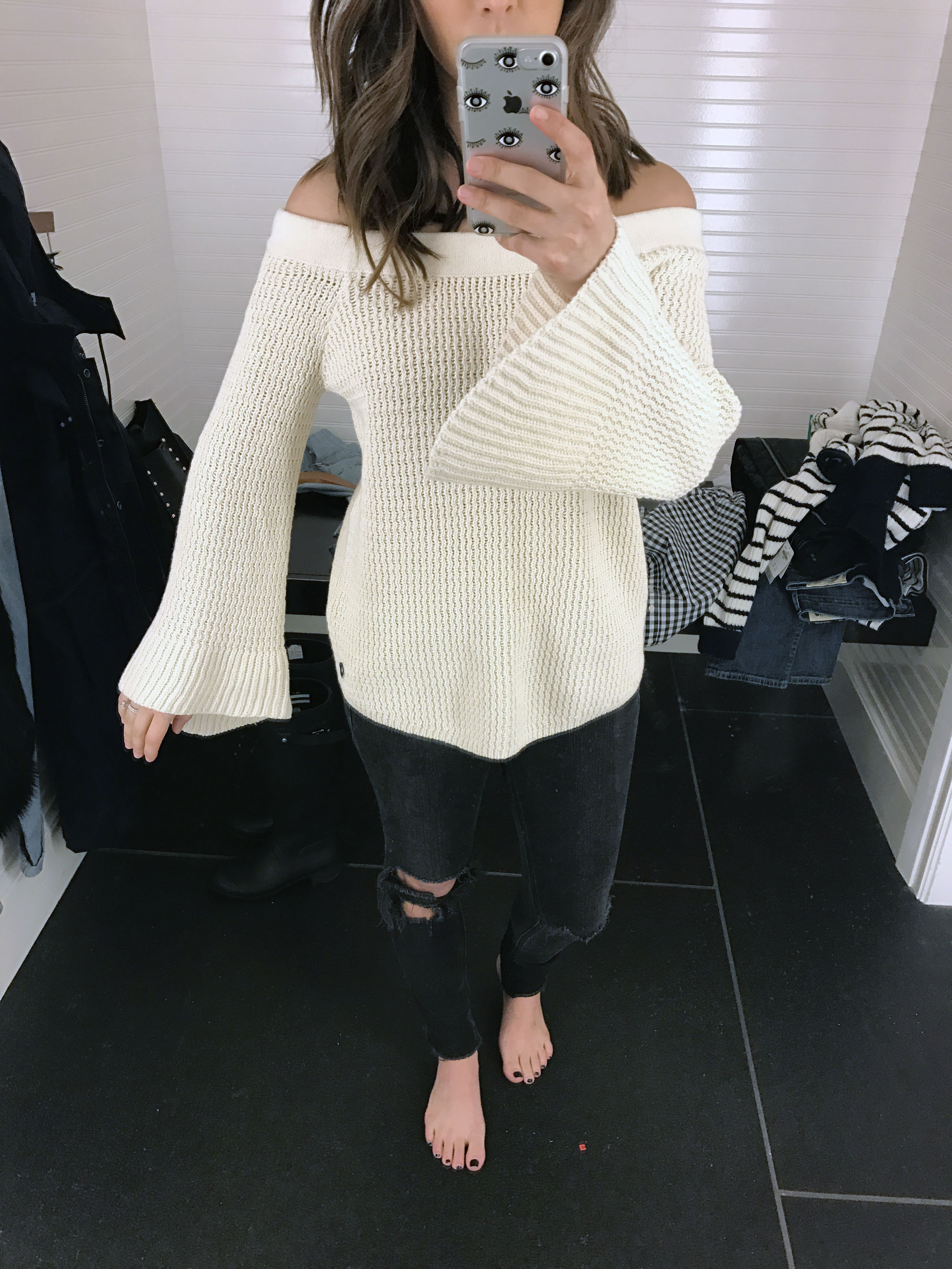 abercrombie & Fitch bell sleeve sweater