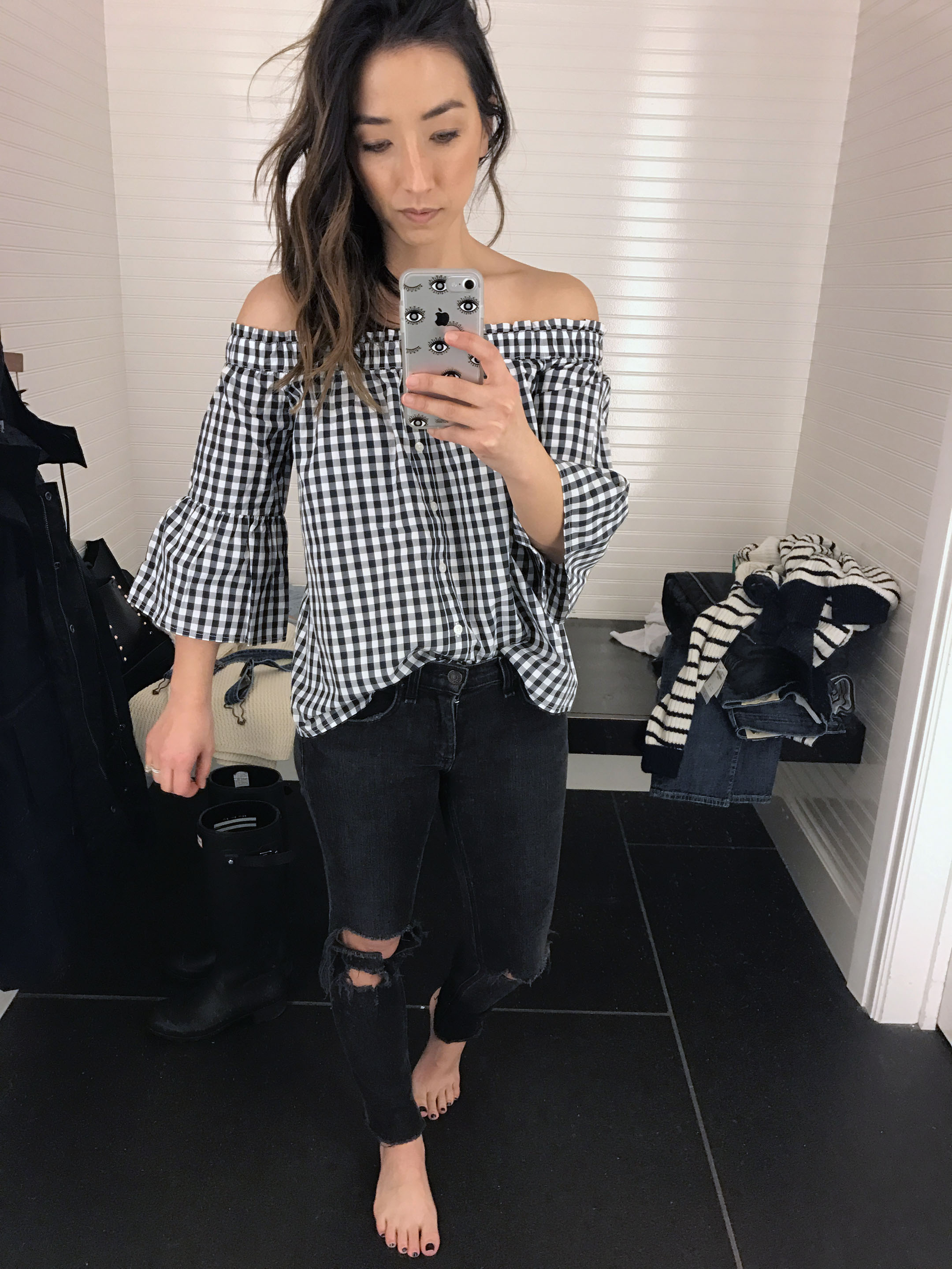 abercrombie & Fitch gingham top 2