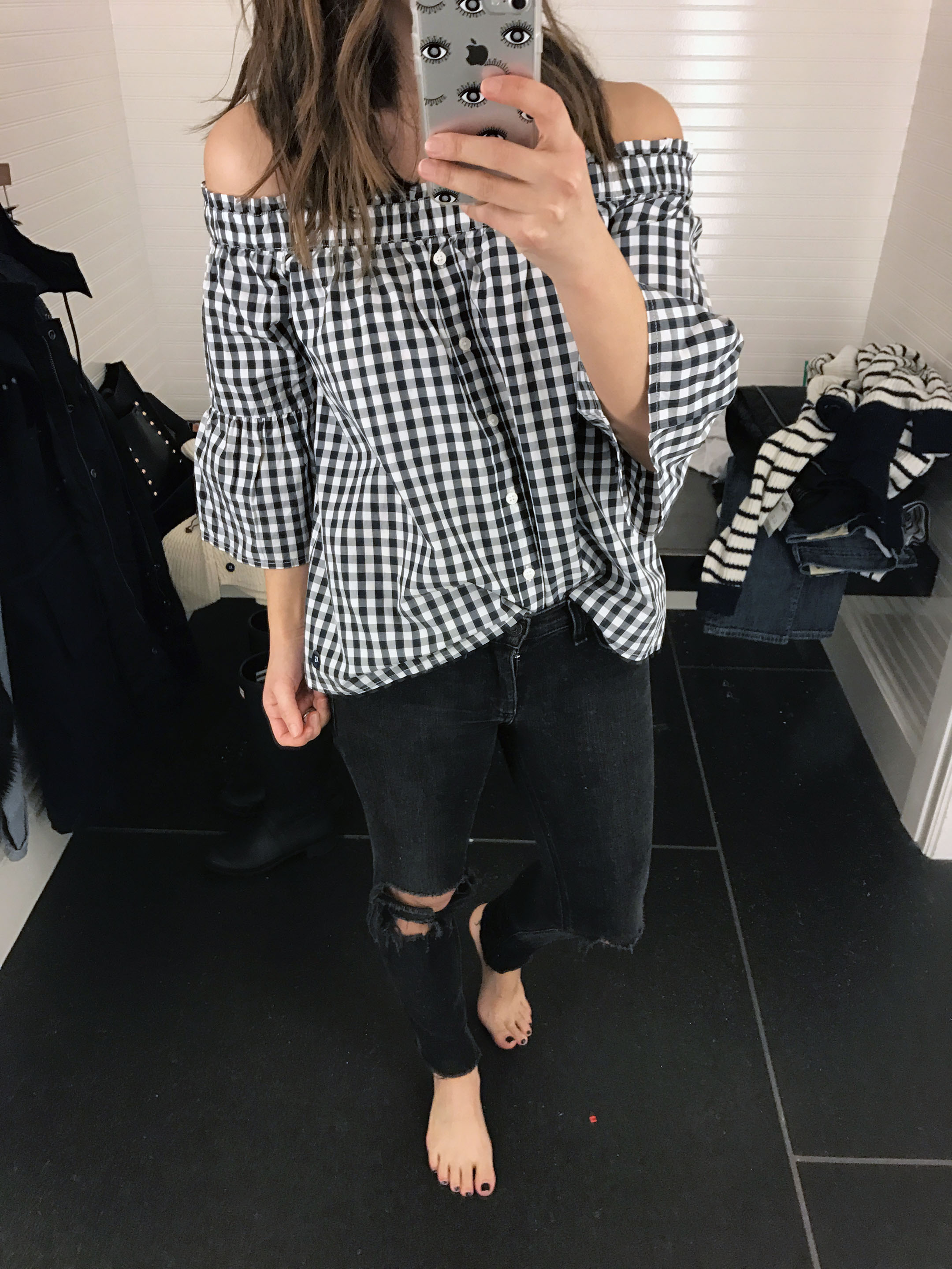abercrombie & Fitch gingham top
