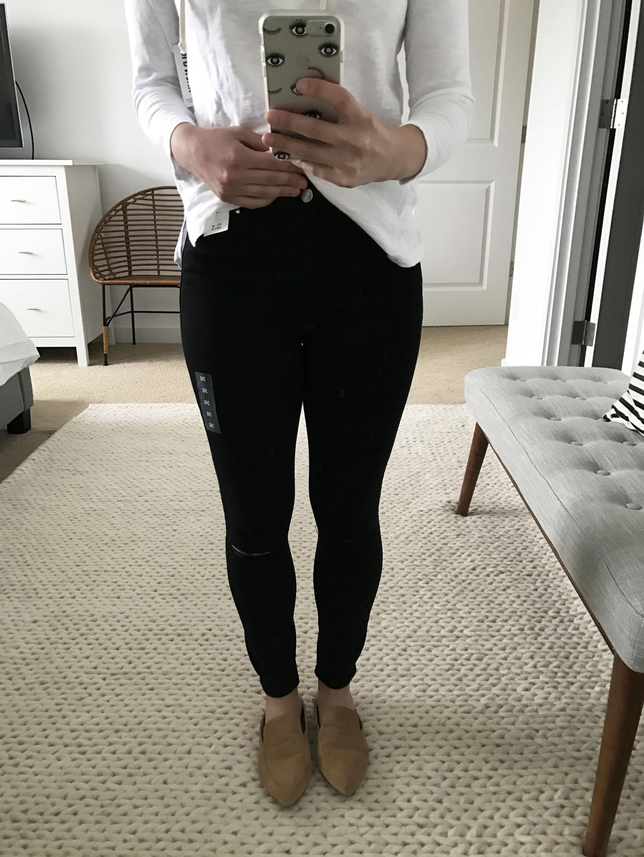Abercrmobie & Fitch black petite ankle jeans 1