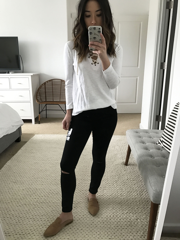 Abercrmobie & Fitch black petite ankle jeans 3