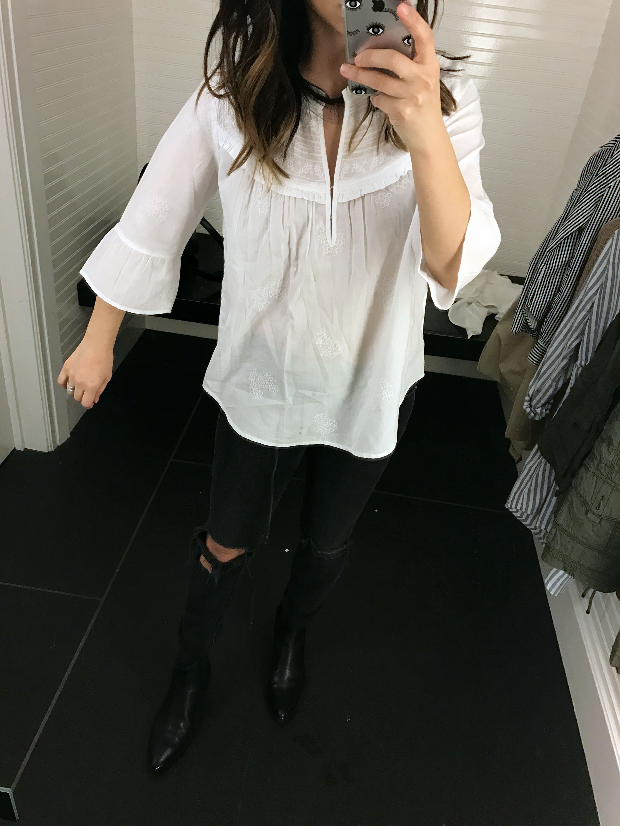 Abercrombie & Fitch embroidered blouse 1