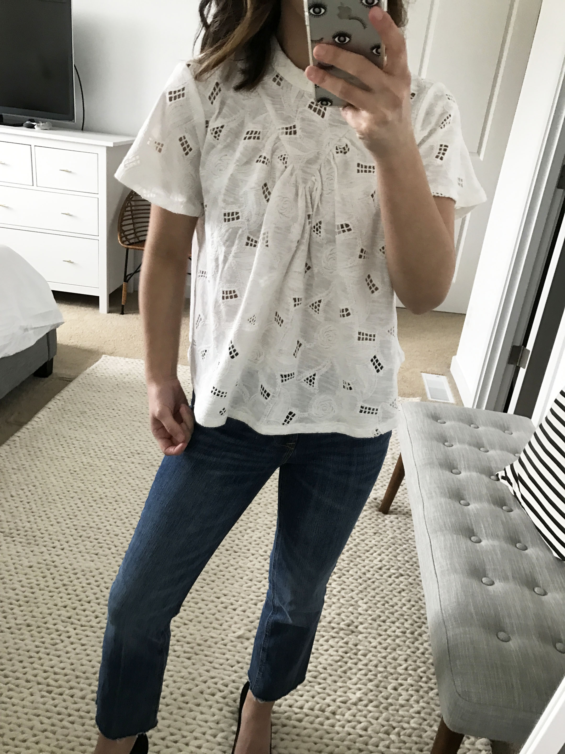 Anthropologie embroidered top 1