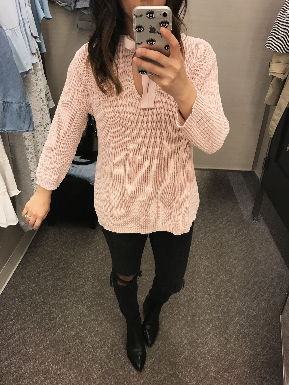 Caslon pink sweater 1