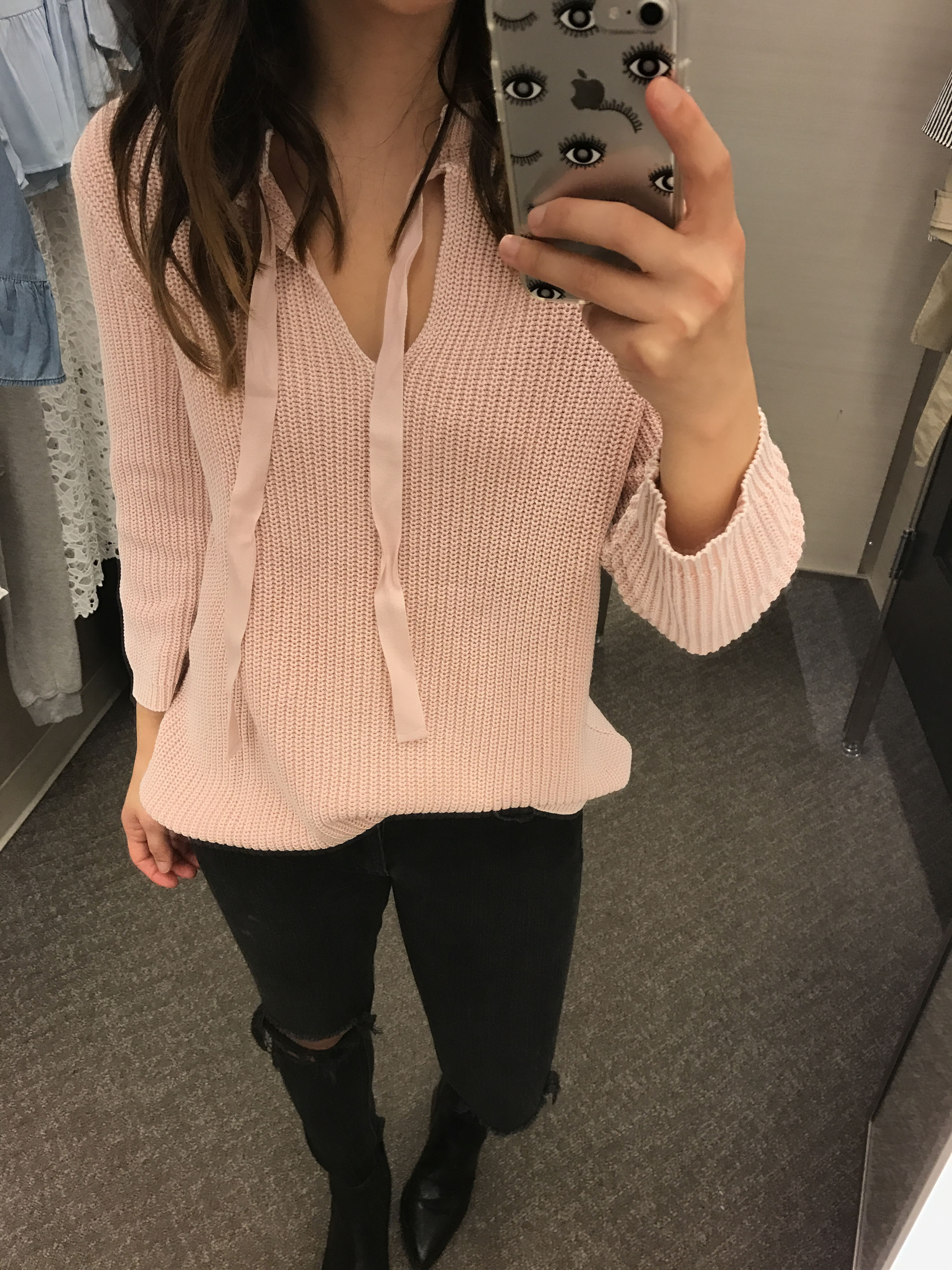 Caslon pink sweater 3