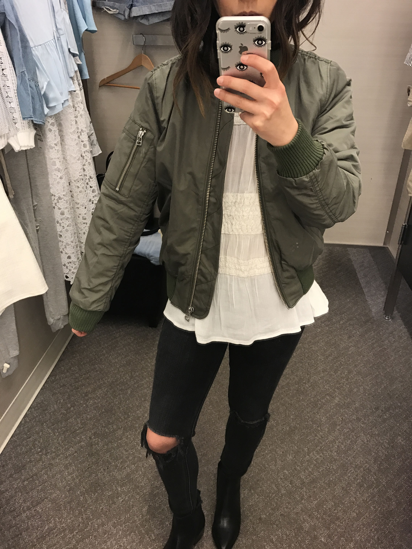 Madewell bomber jacket 1
