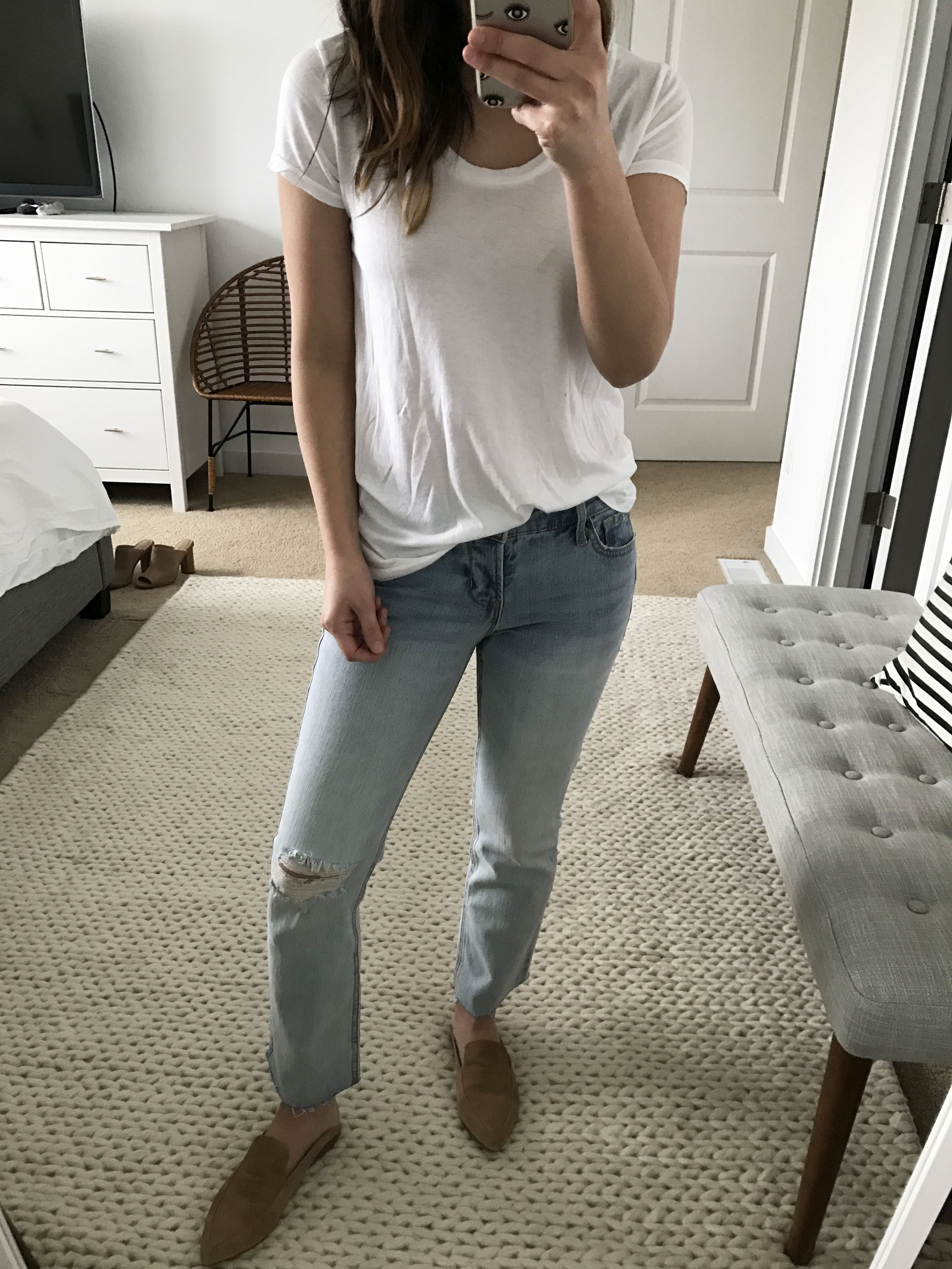 Old Navy light wash cropped flare jeans 1
