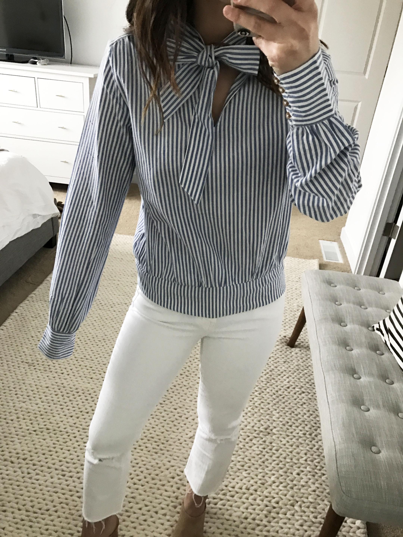 Sezane tie blouse 1