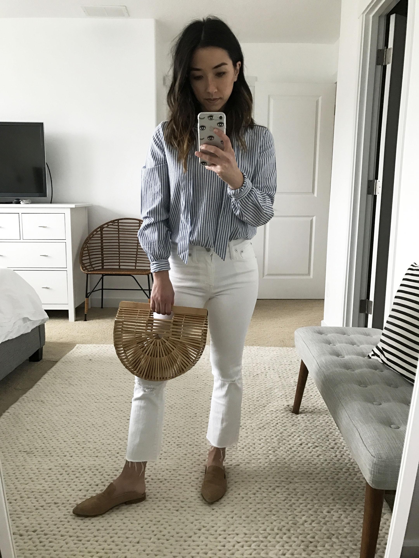 Sezane tie blouse 3