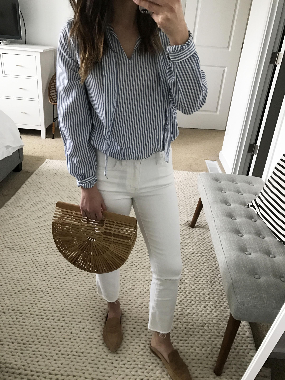 Sezane tie blouse 4