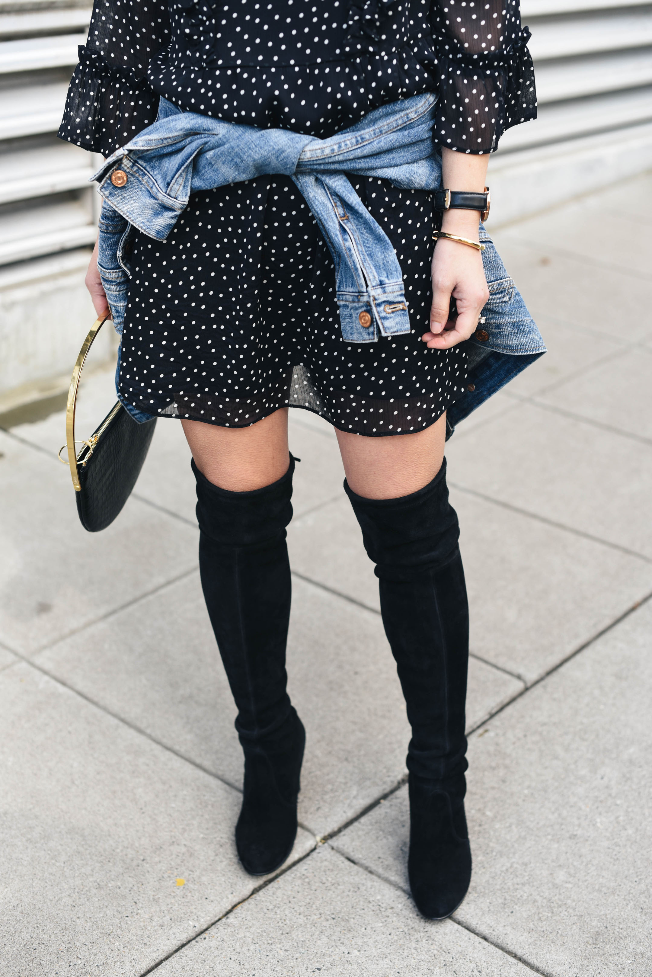 Stuart Weitzman black highland boots