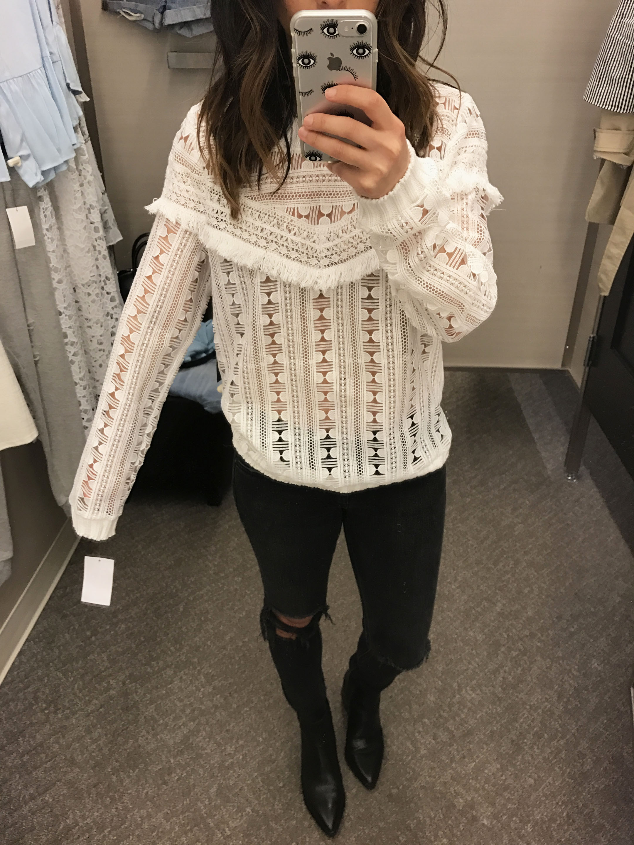 Trouve lace sweater 1